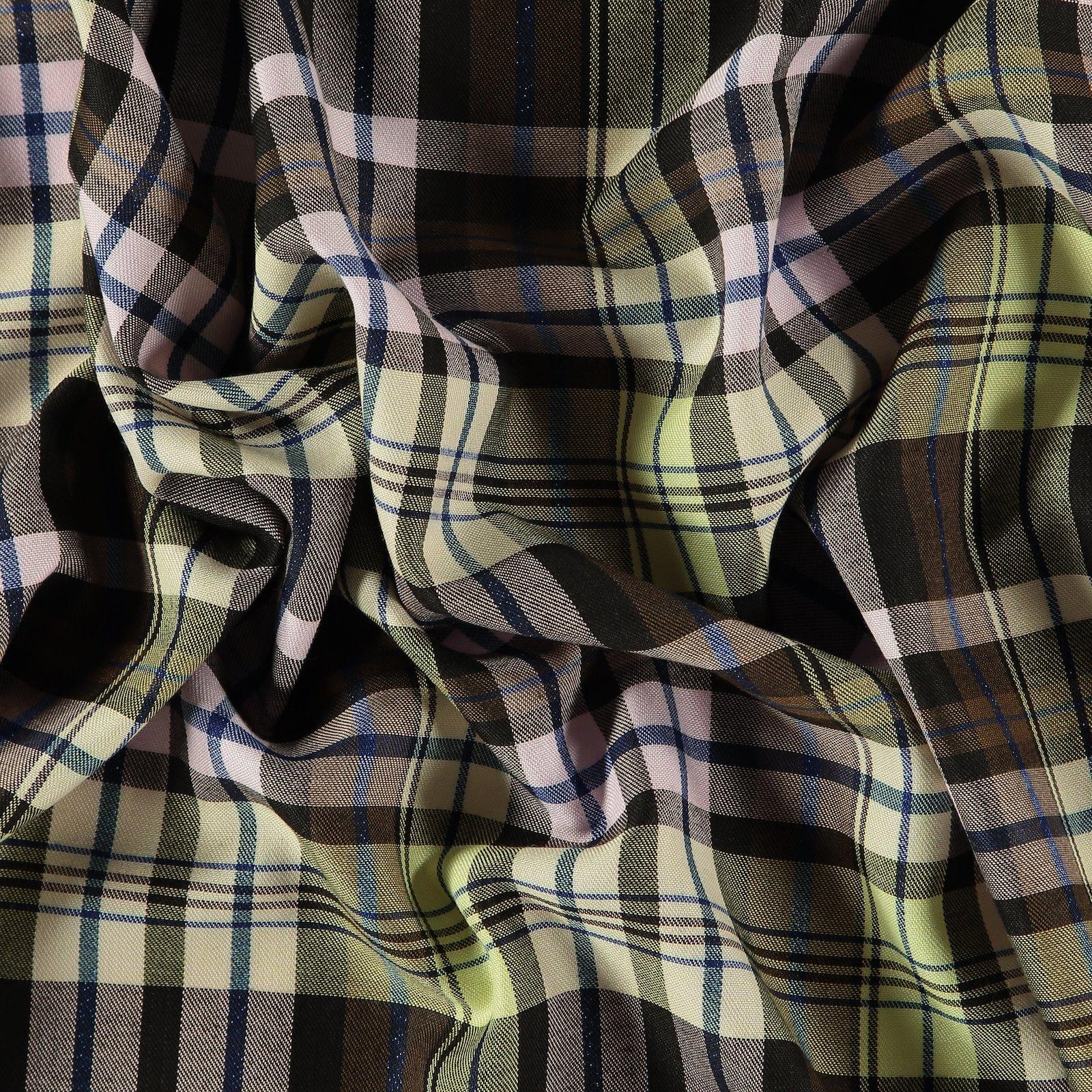 Woven YD check brown/yellow/purple/lurex