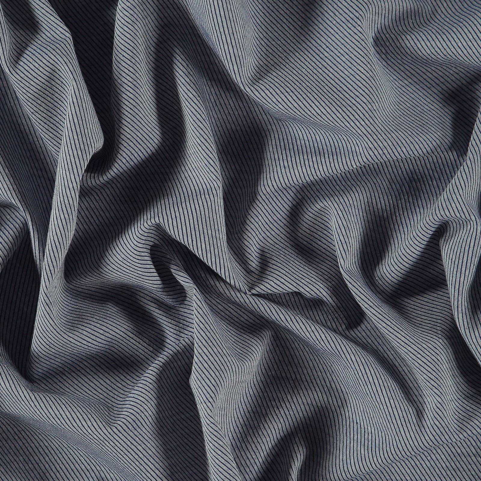 Woven cotton dusty blue/white YD stripe