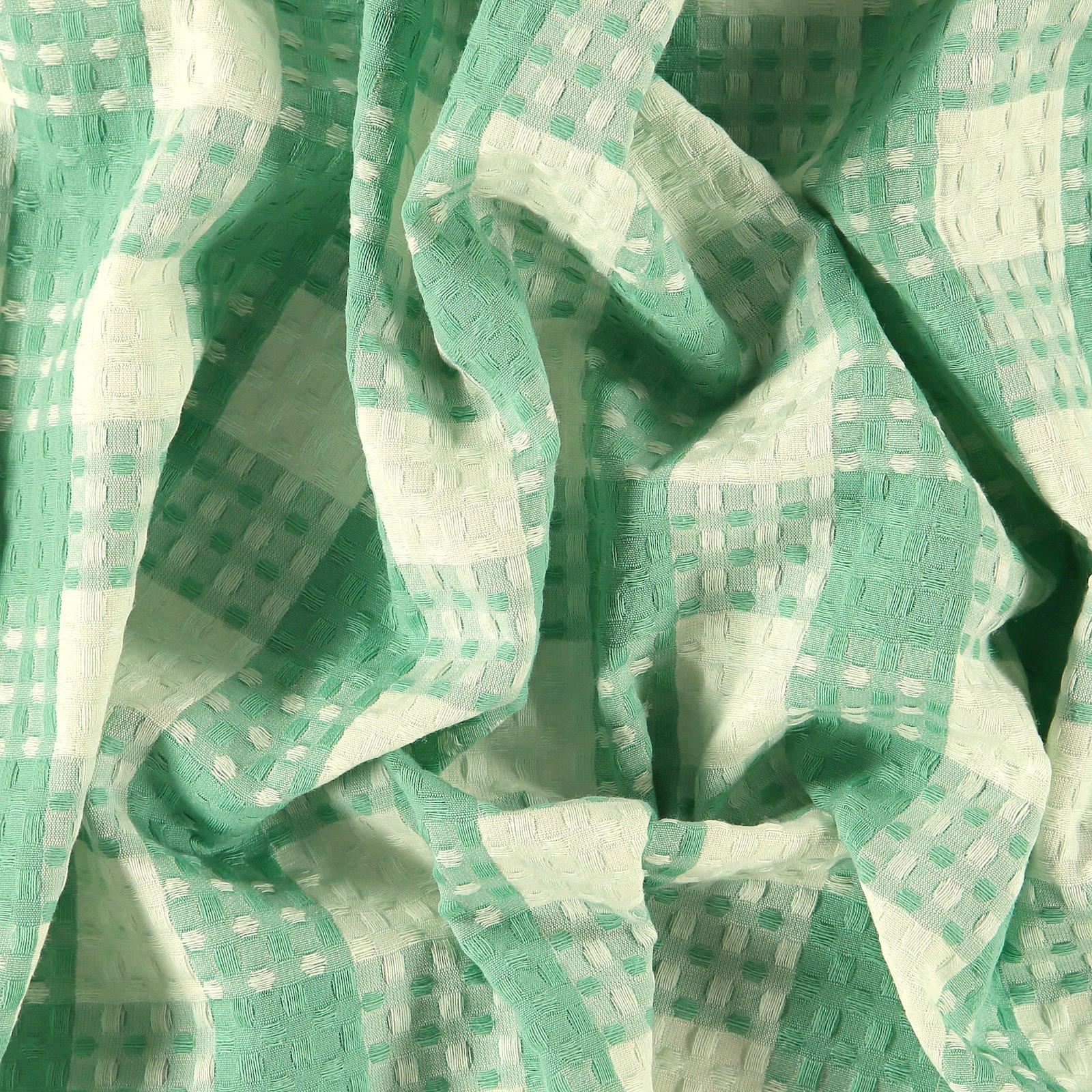 Jacquard gewebt mit Struktur, Mint Karos