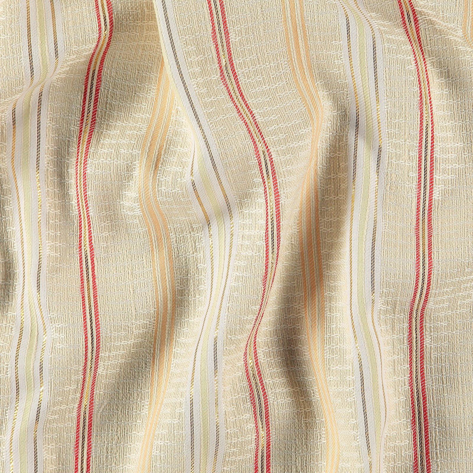 Woven jacquard sand w YD stripe/lurex