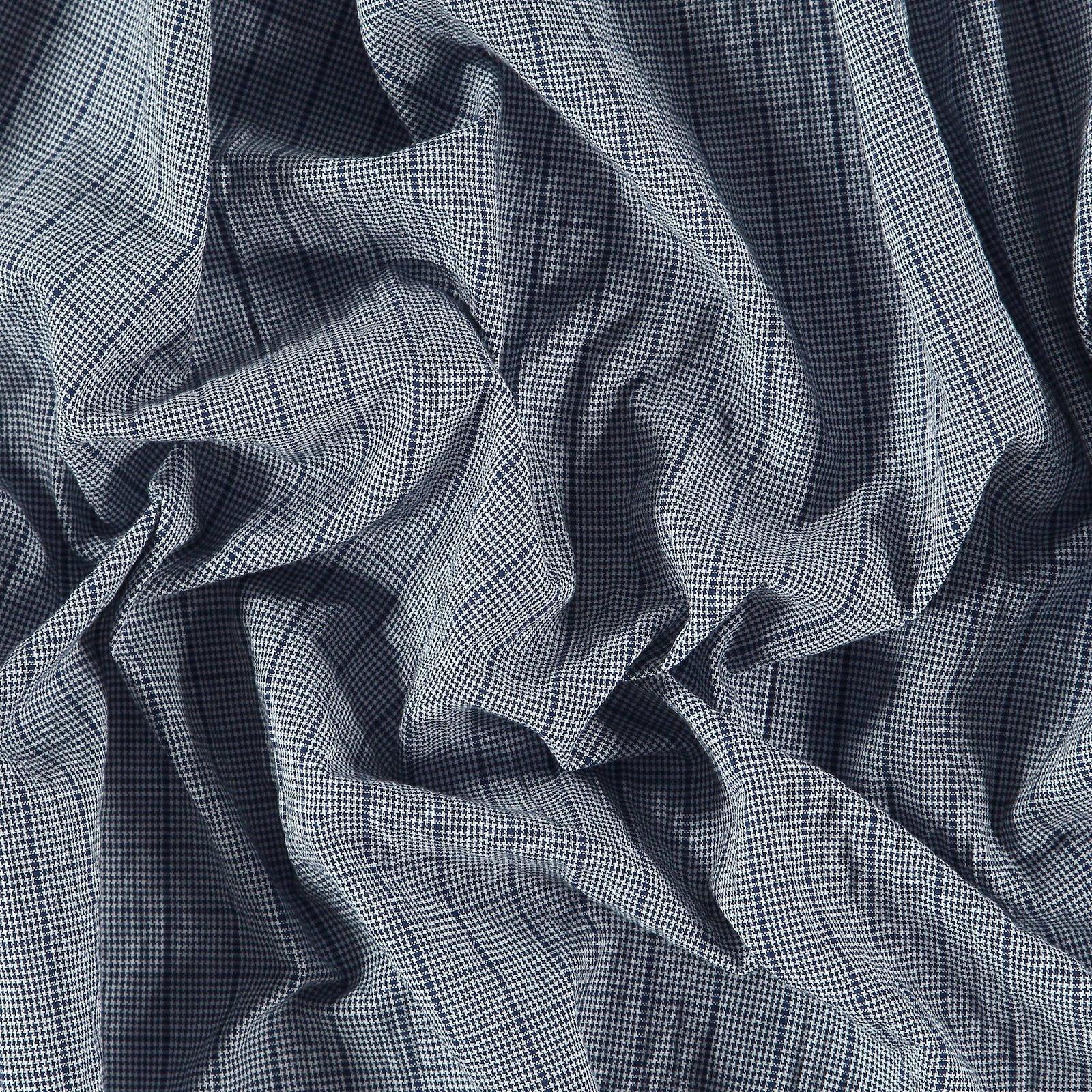 Woven cotton w structure blue check