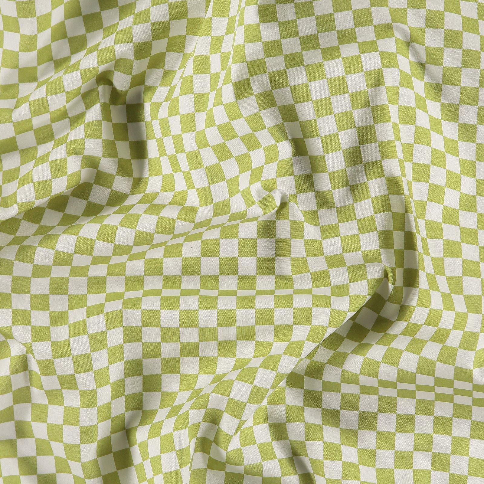 Organic woven cotton lime/off white