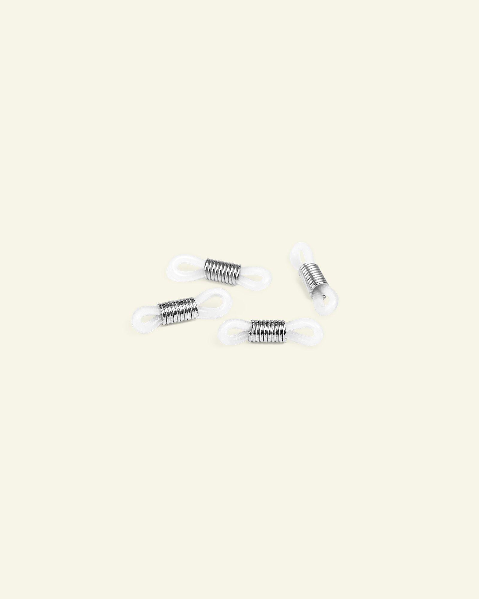 Brillenhalter Silikon 20mm Silb/Weiß,4St
