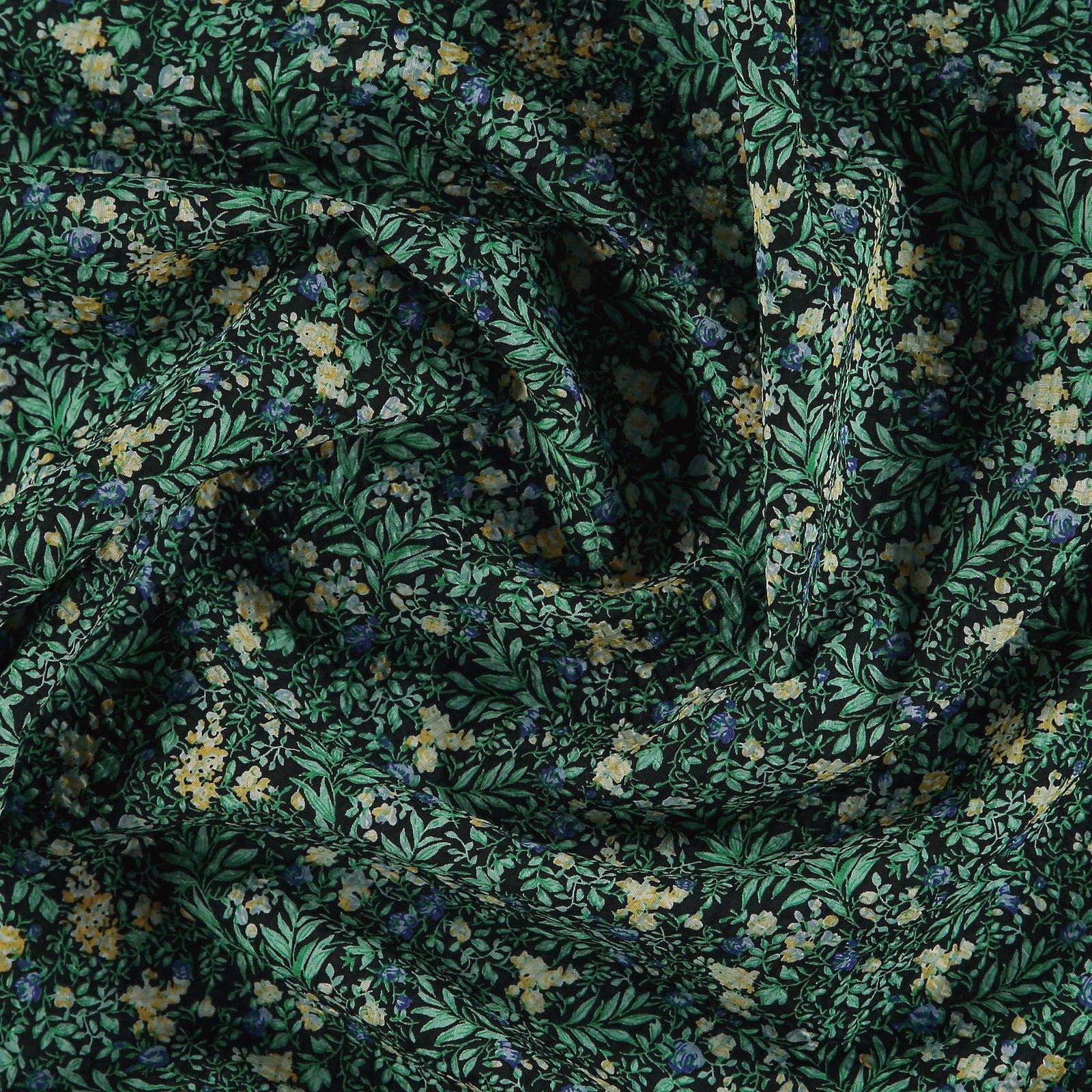 Seersucker black with mint leafs