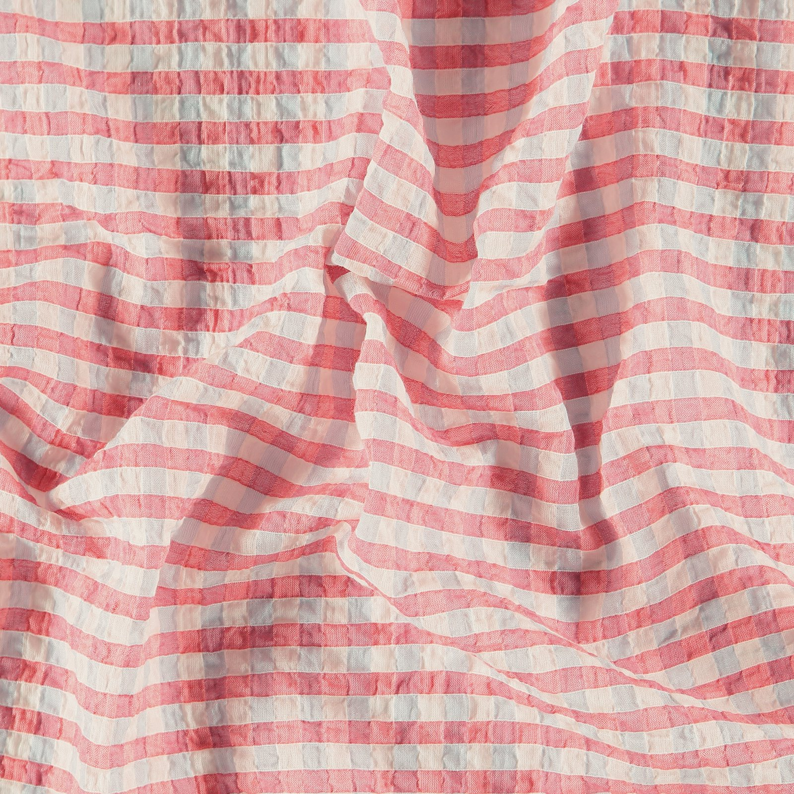 Seersucker white/pink YD check
