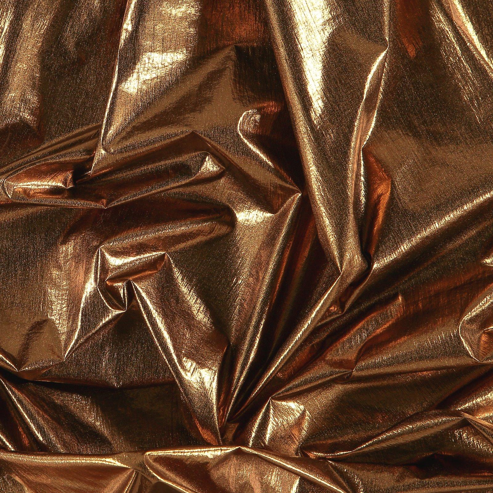 Light woven with dark cobber foil