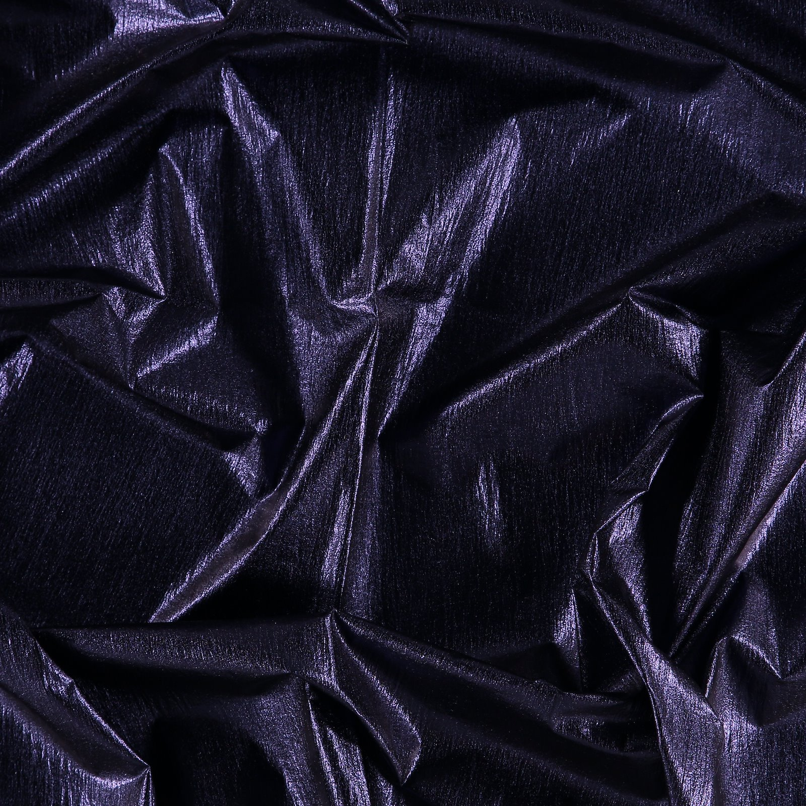 Light woven with metallic blue foil