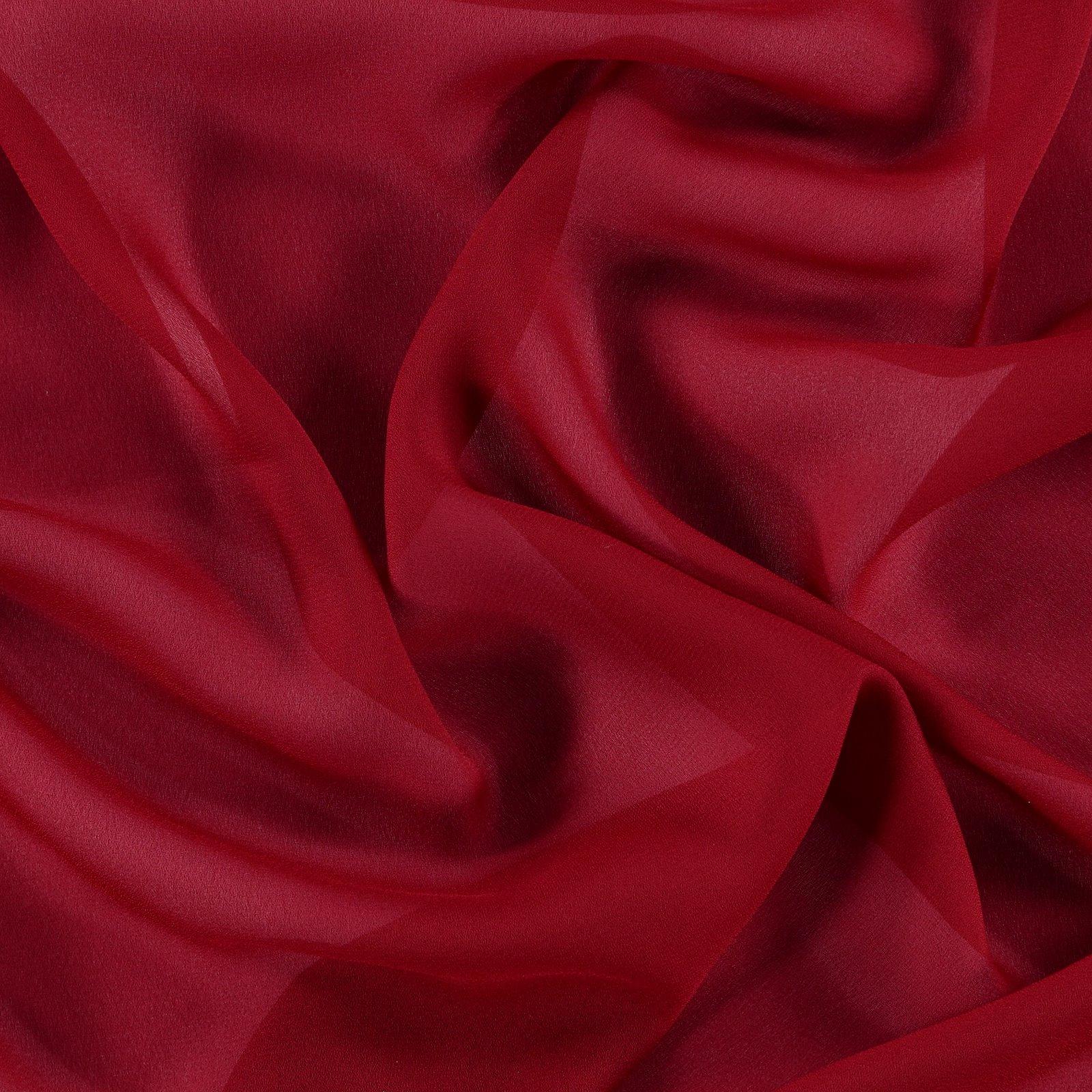 Chiffon dark red