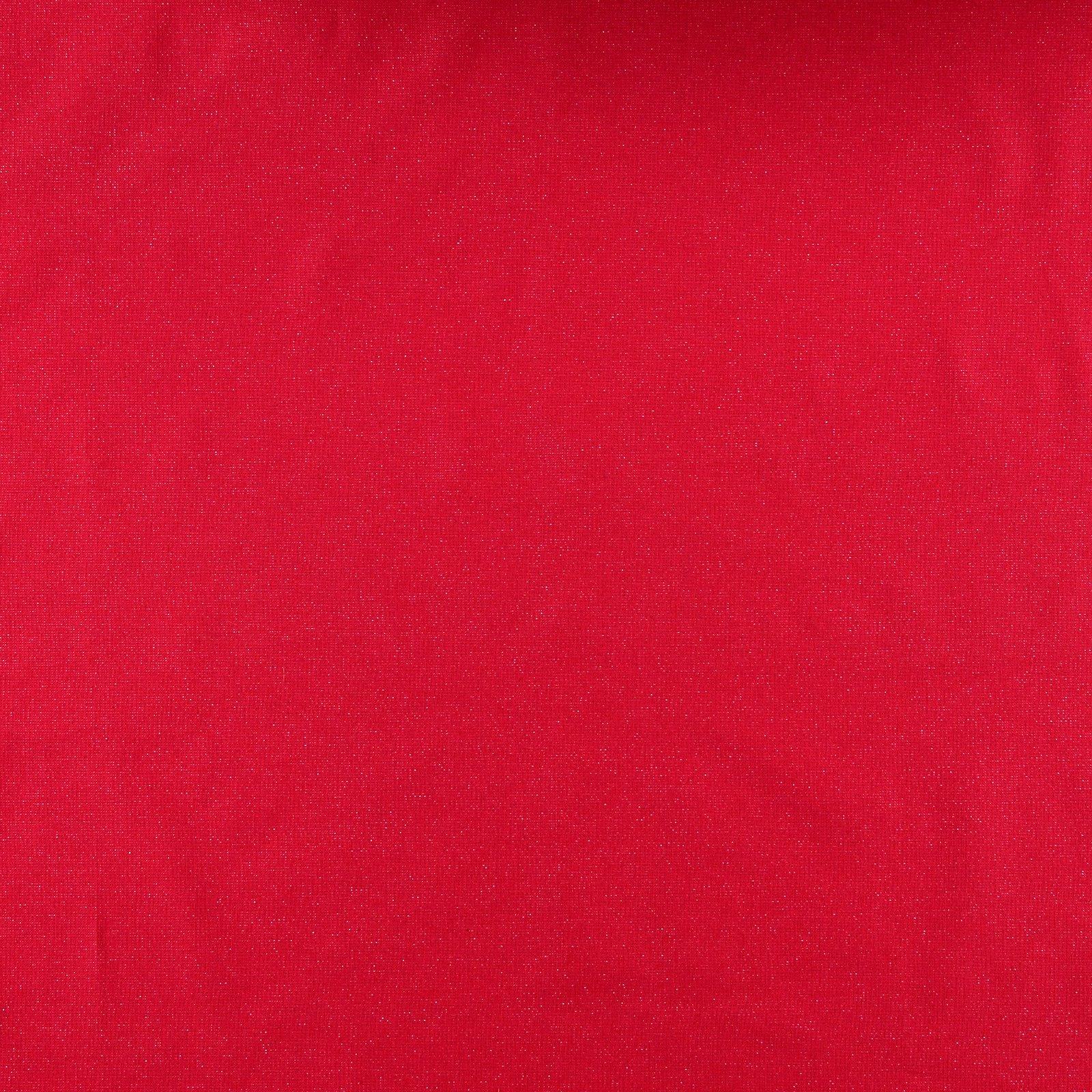 Woven red w silver lurex