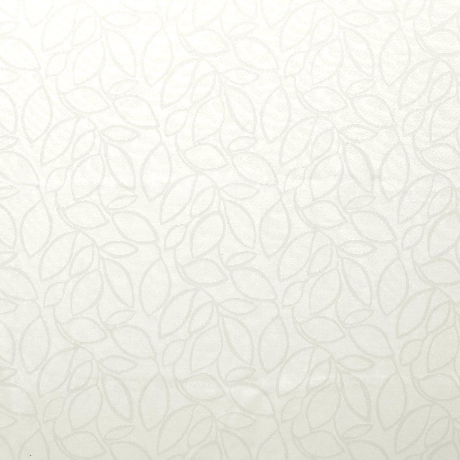 Jacquard white w leaves