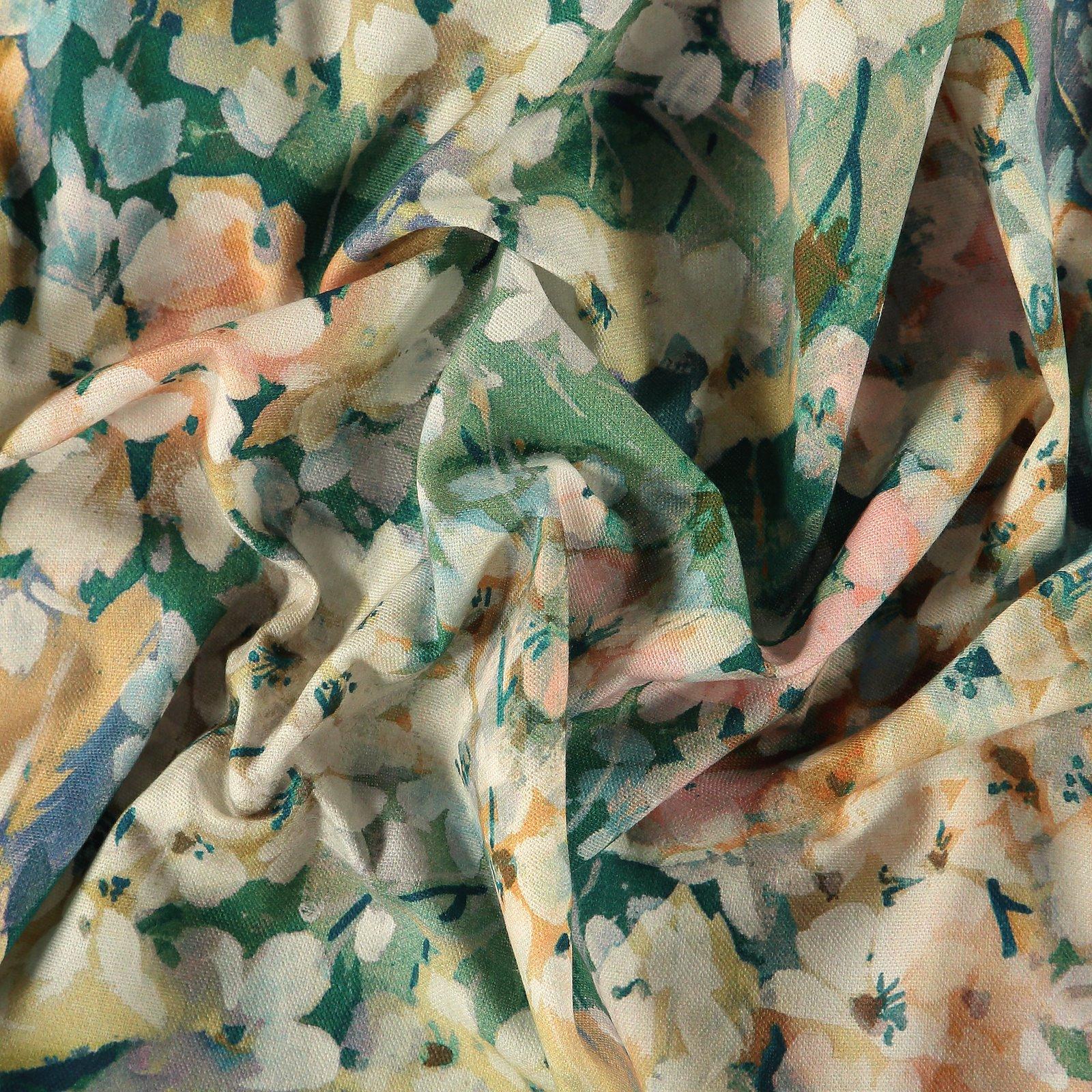 Baumwolle gewebt, mehrfarbige Blumen