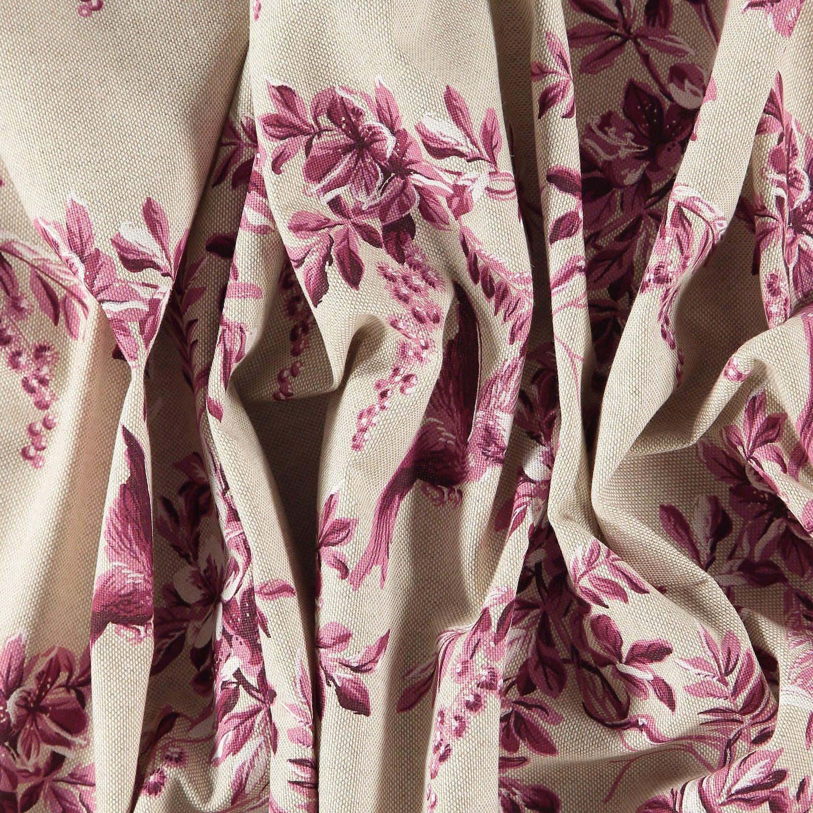 Leinenlook, Fuchsia Blumen