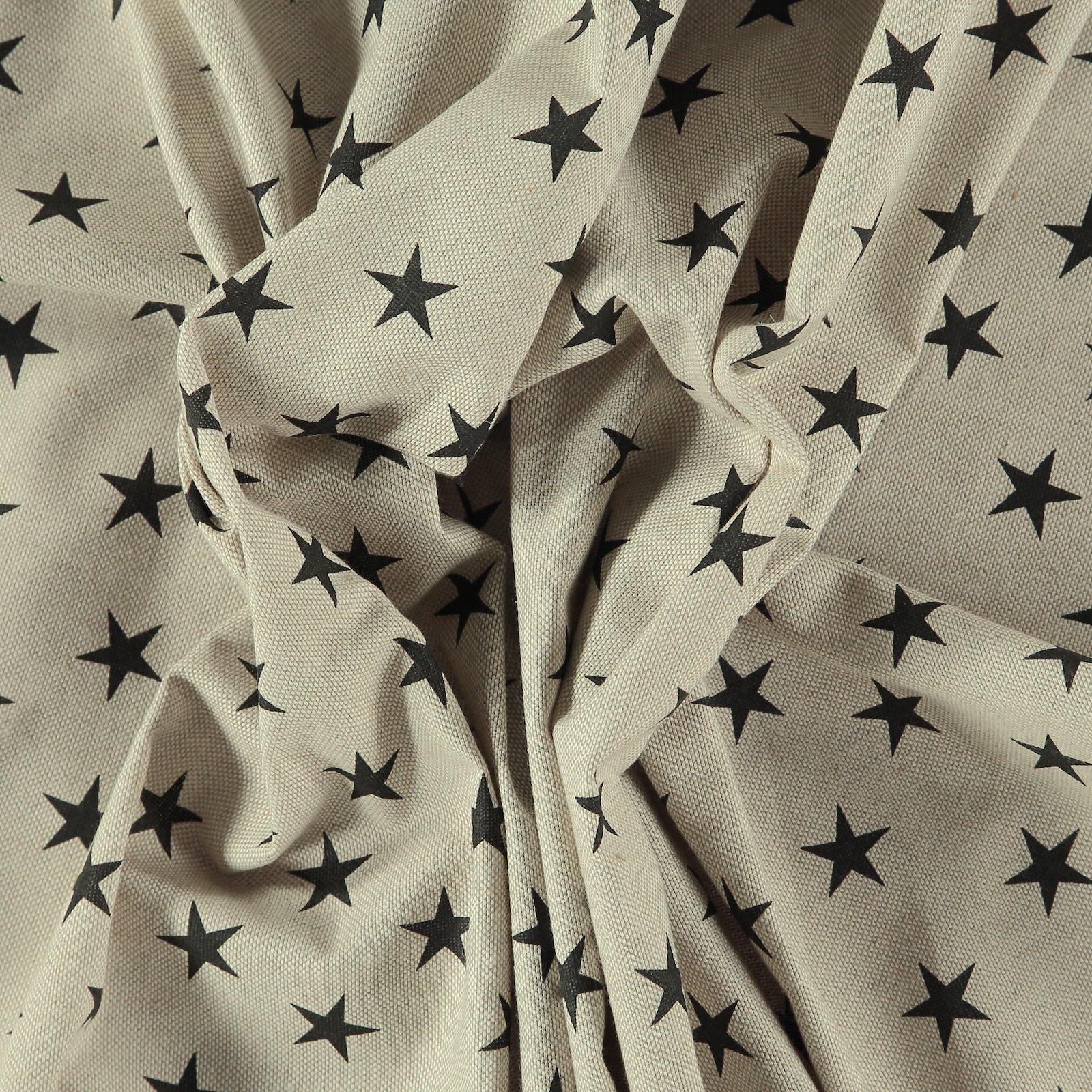 Leinenlook mit schwarzen Sternen