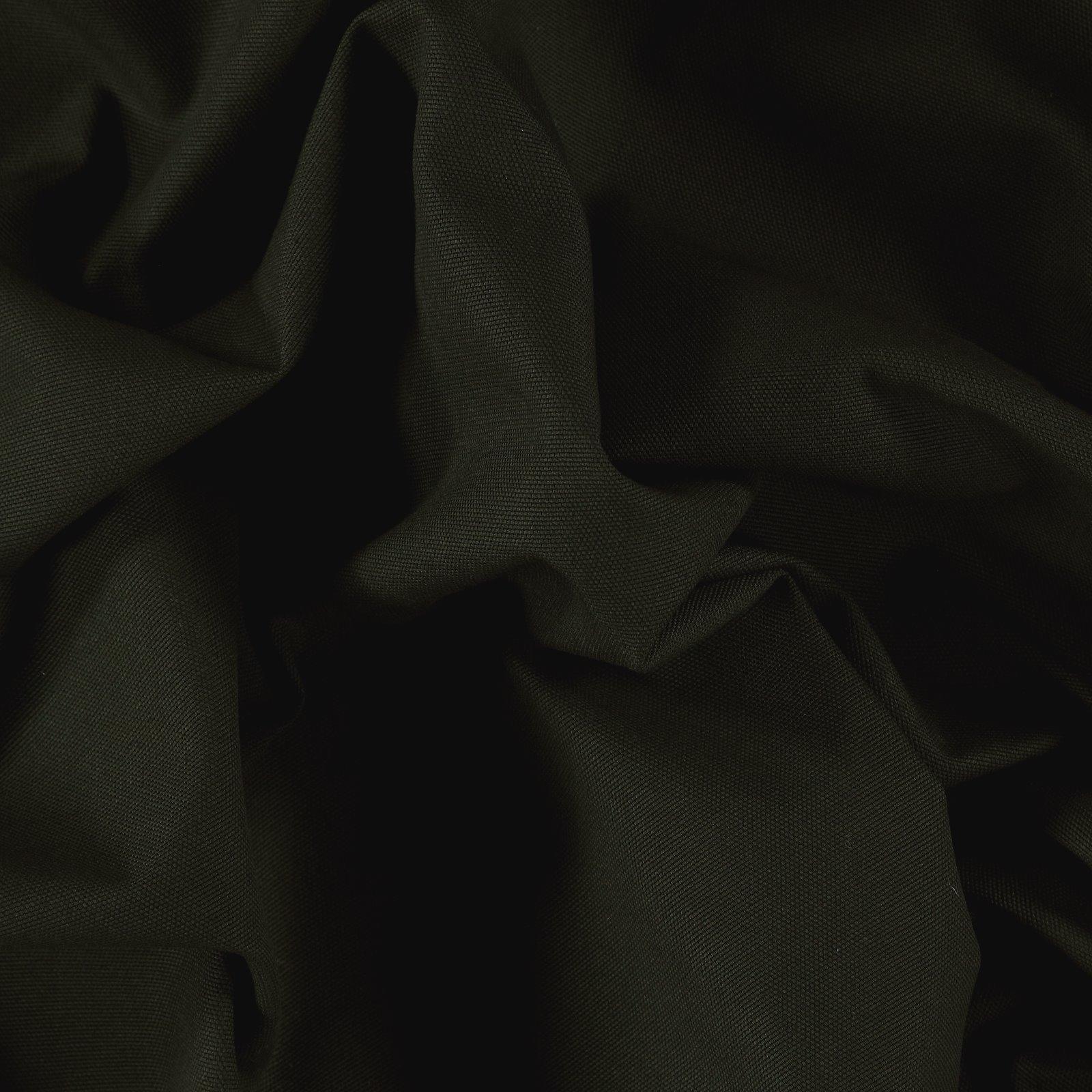 Cotton canvas dark bottle green