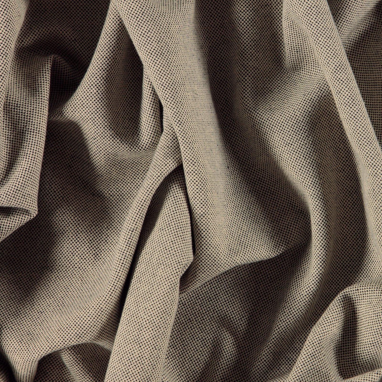 Yarndyed cotton canvas black/nature