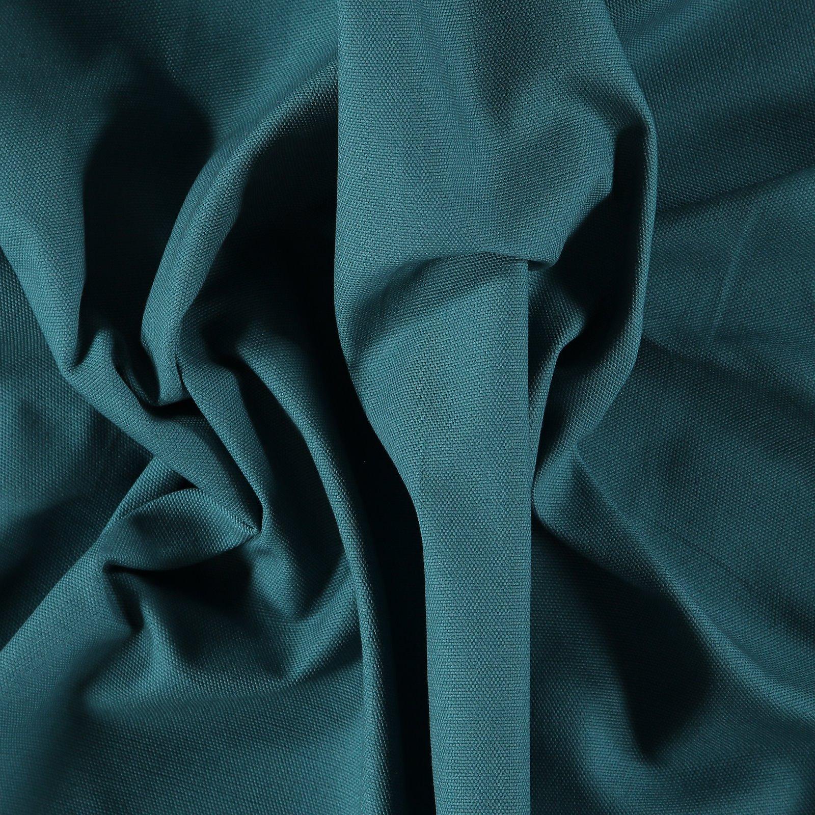 Cotton canvas petrol blue