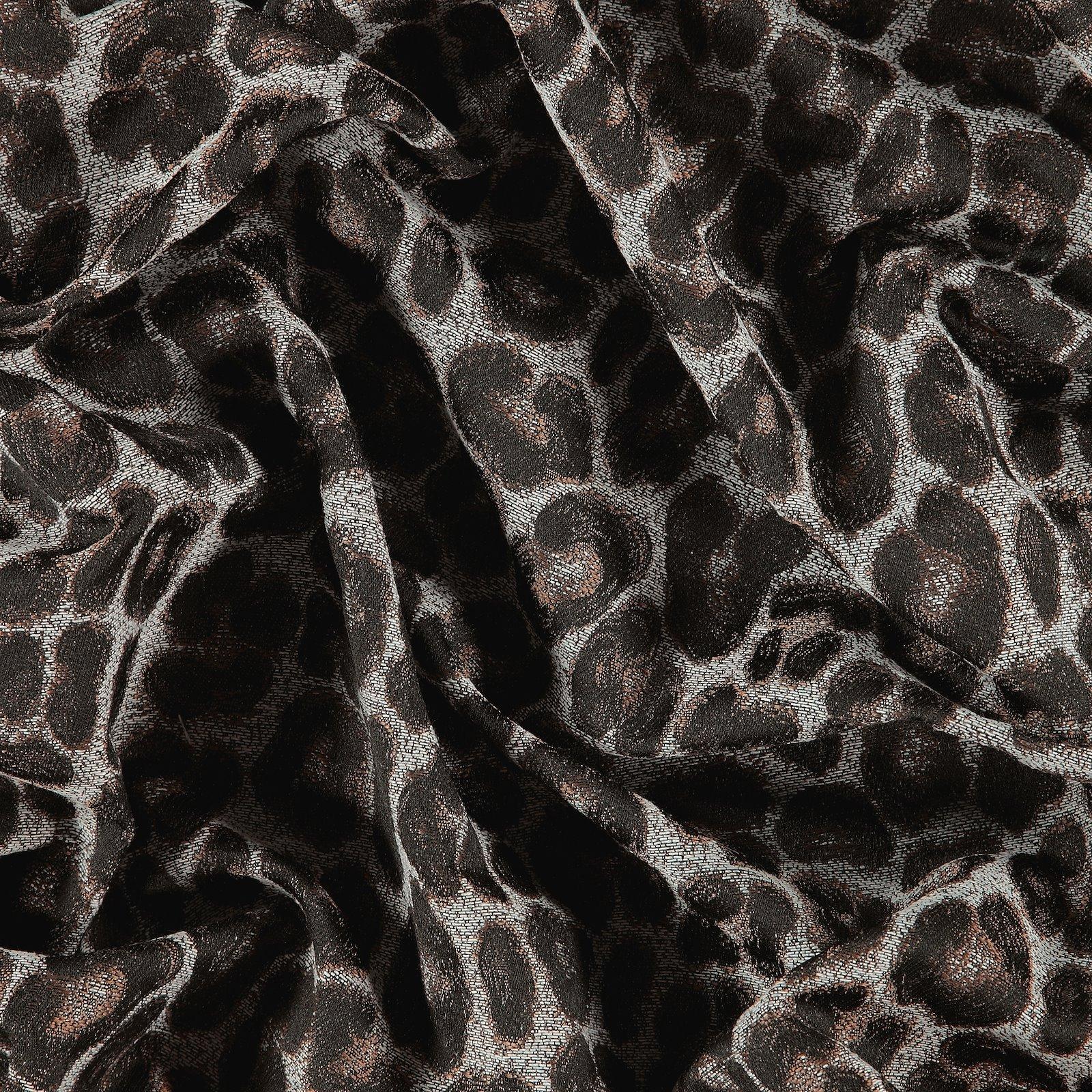 Jacquard grey w black/brown leo pattern