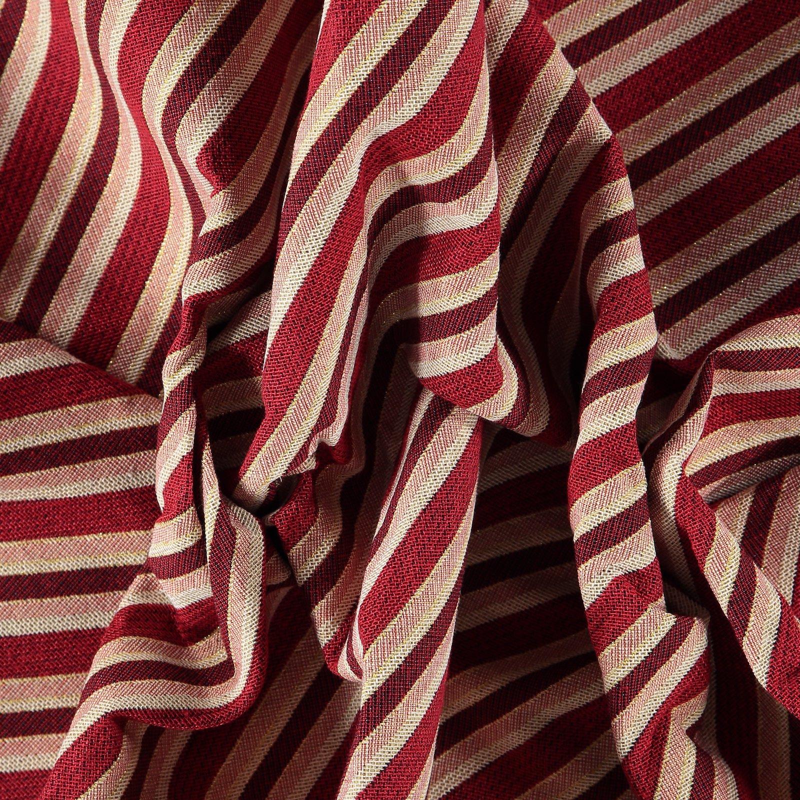Gobelin nature/red/gold diagonal stripe