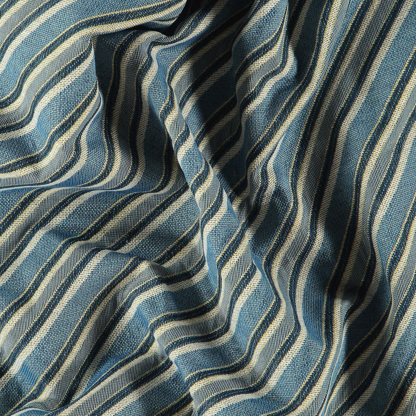 Gobelin nature/blue/gold diagonal stripe