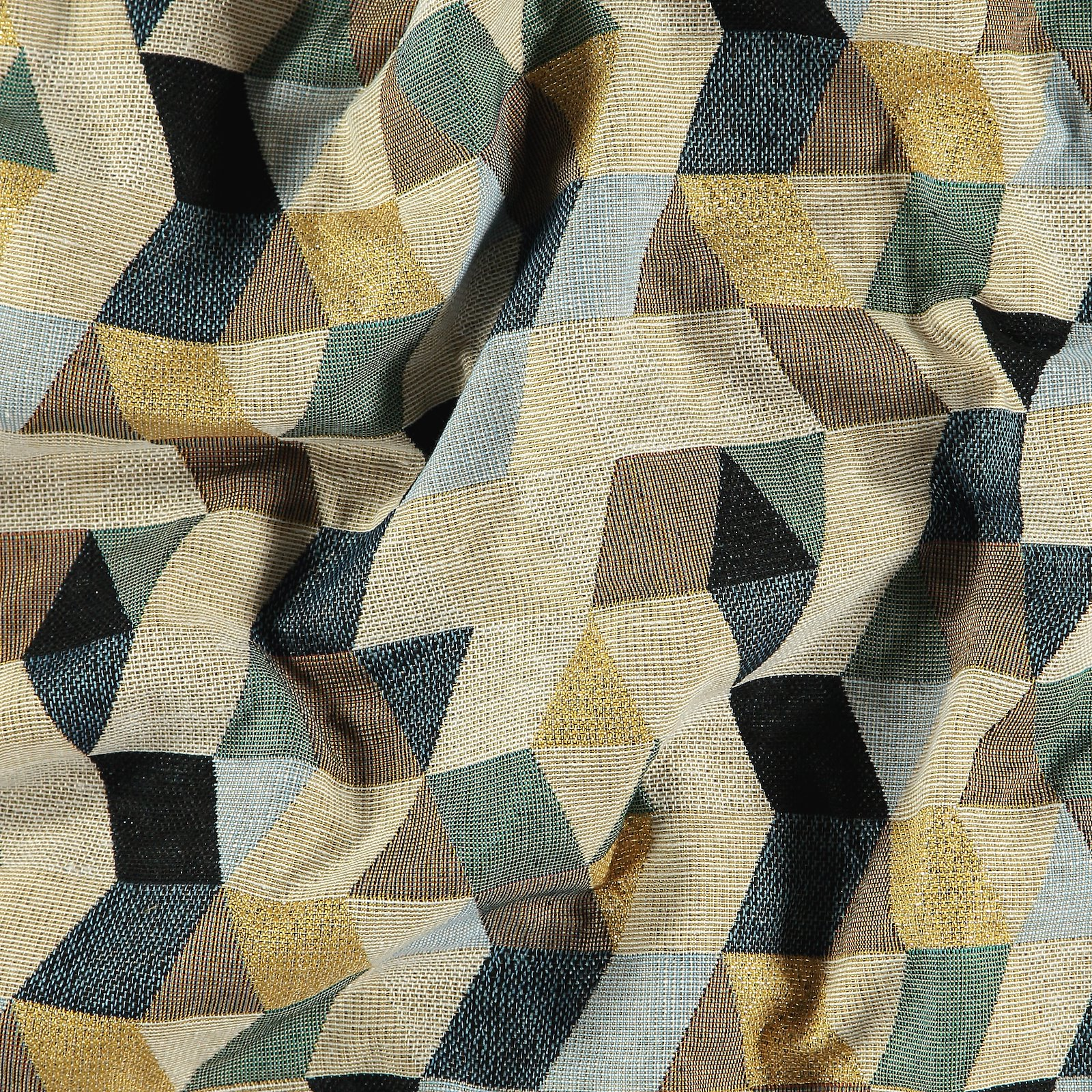 Jacquard blue/green/gold abstract