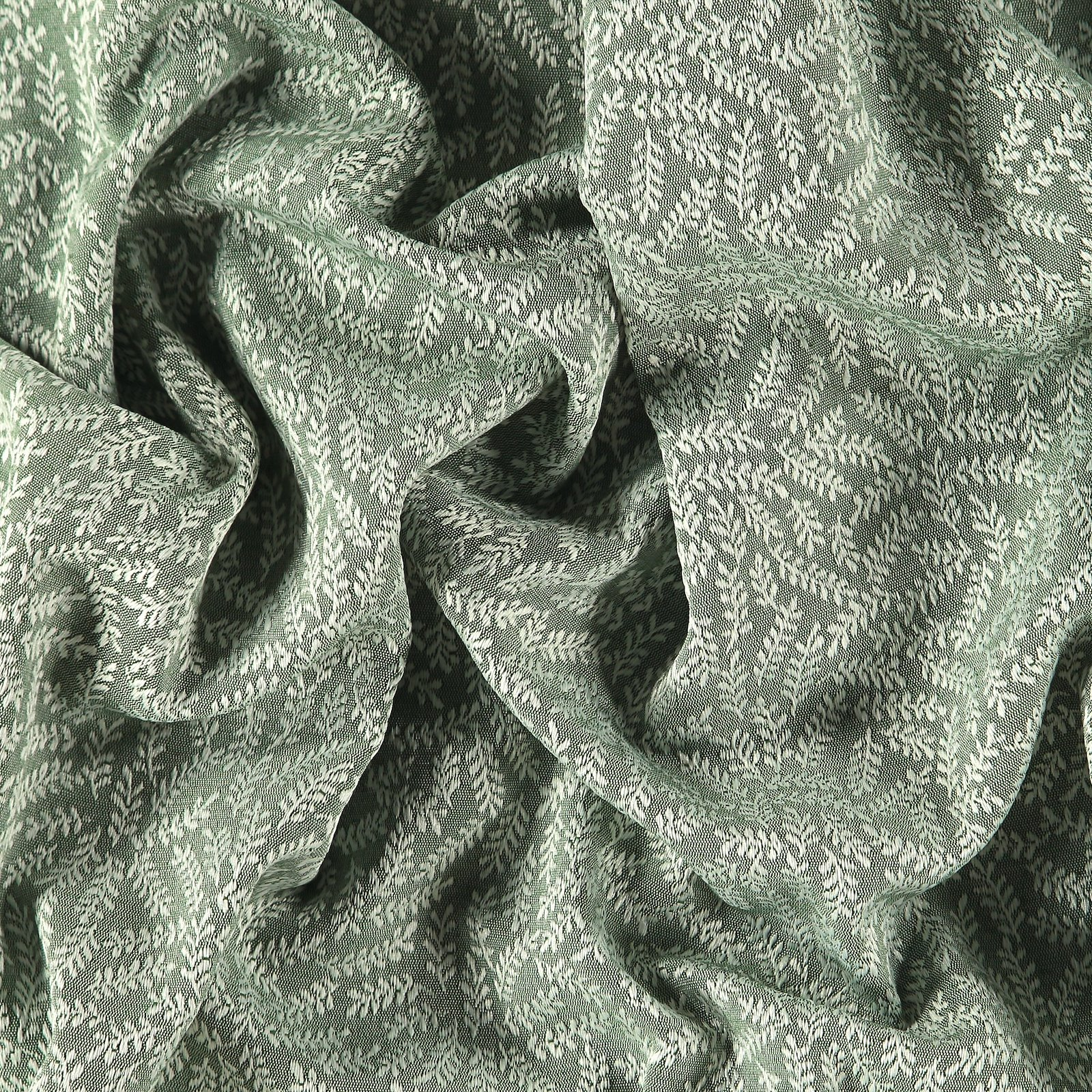 Jacquard dusty green w white branches