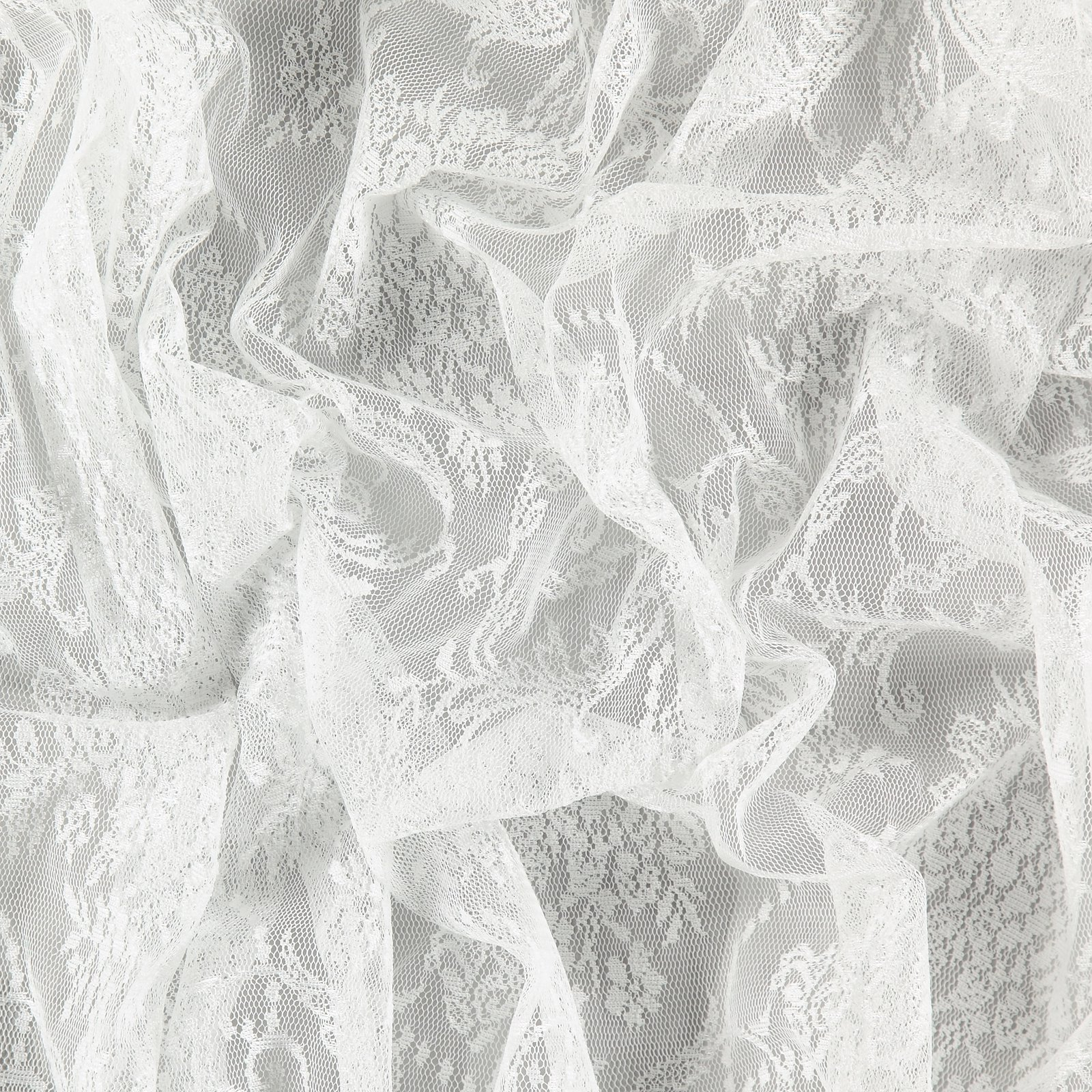 Spitze m/2-seitiger Muschelkante Weiß