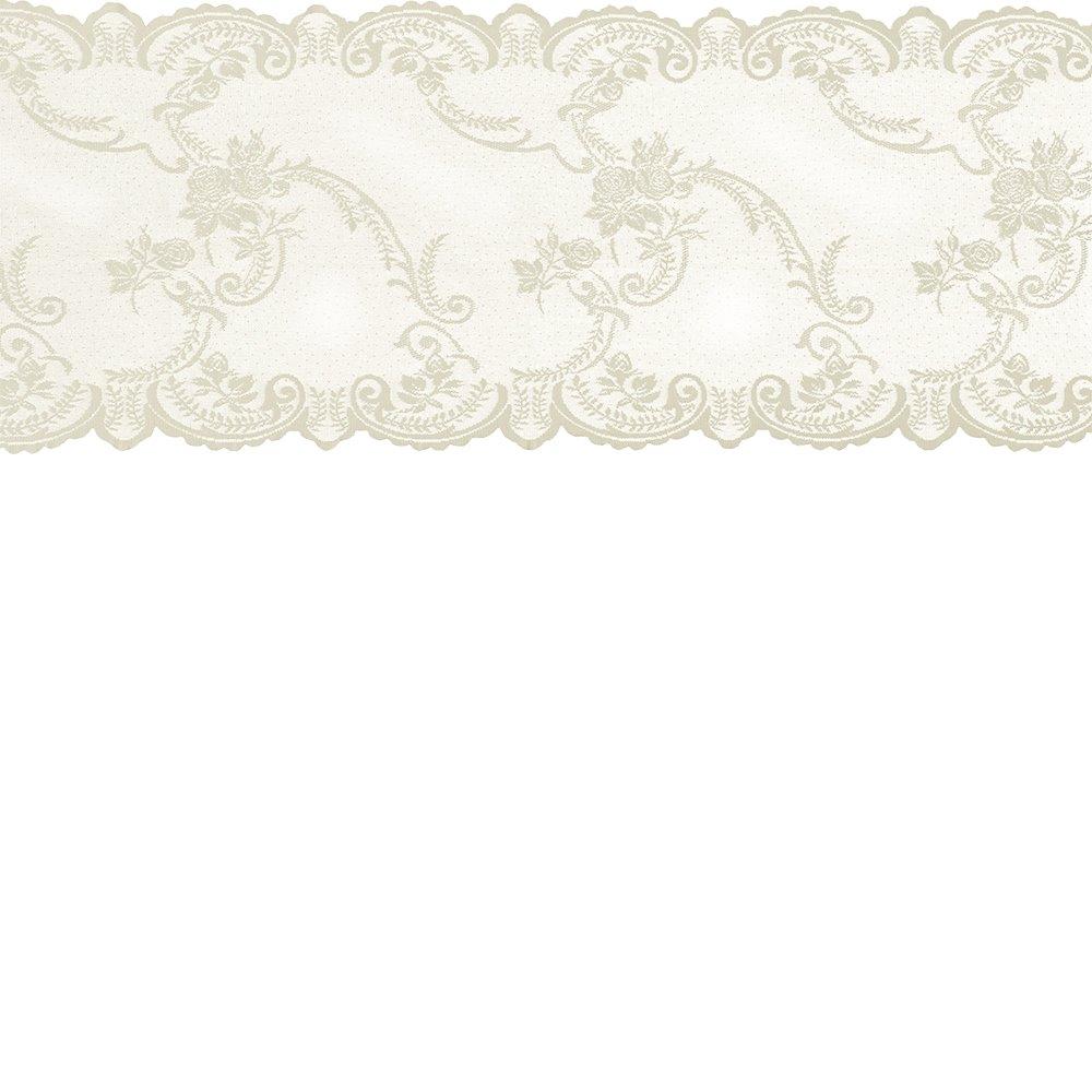 Lace mol cream w rose edging 35cm