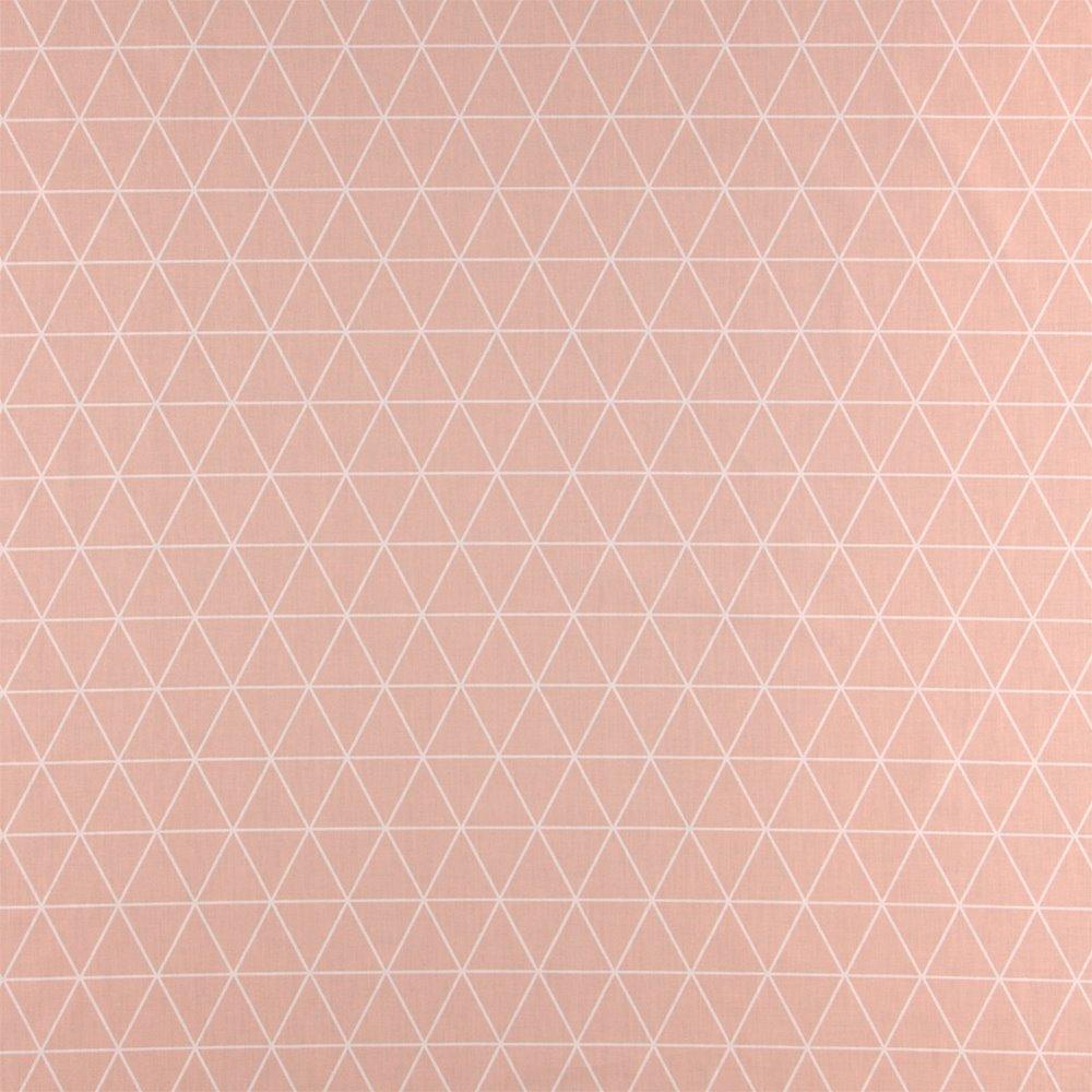 Cotton rose w white triangles