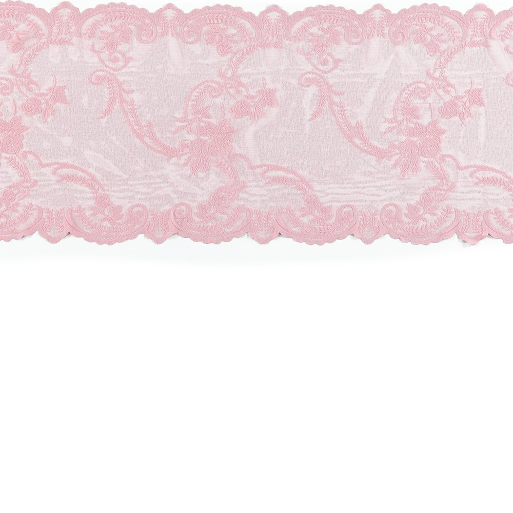 Lace mol light red w rose edging 35cm