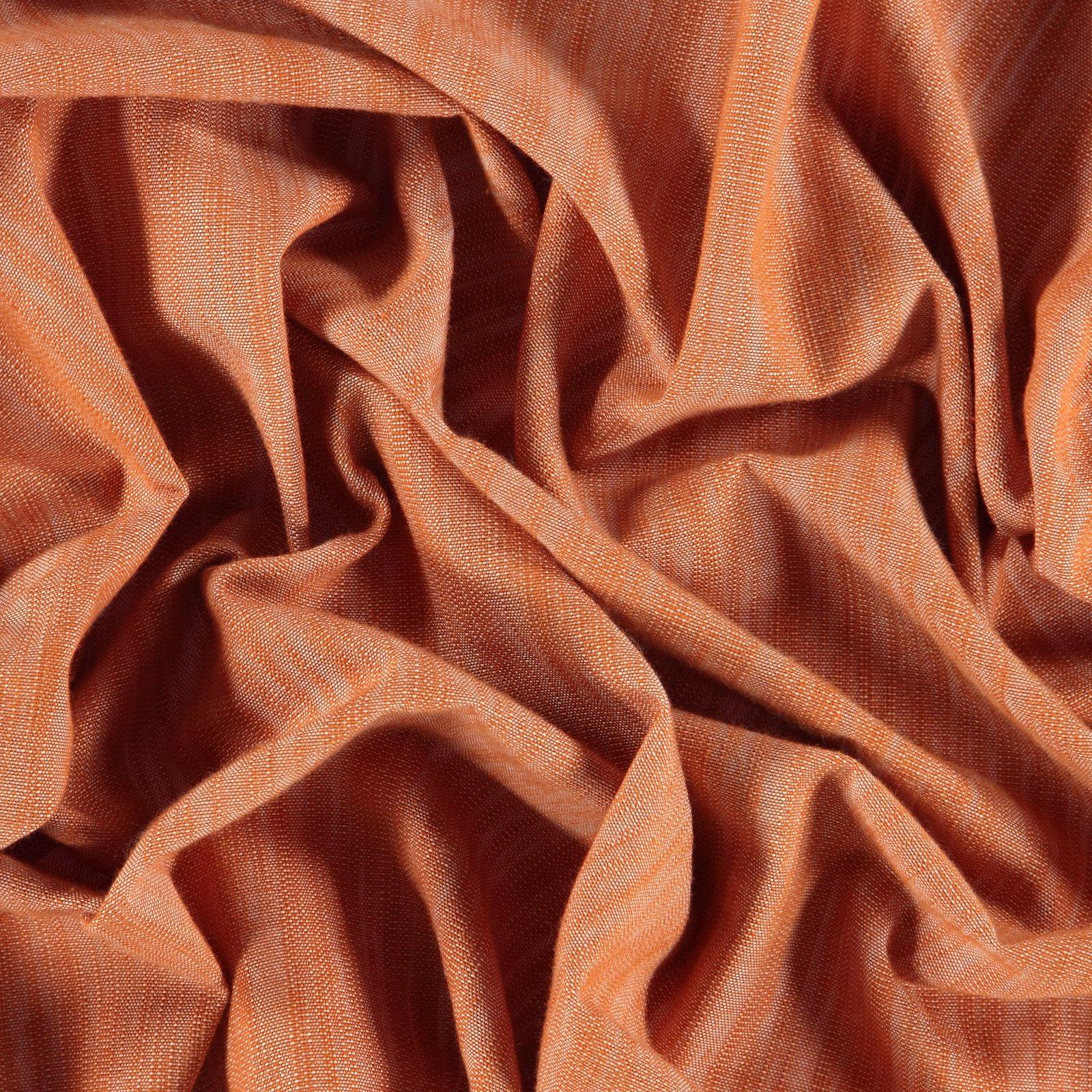 Yarn dyed light terracotta melange