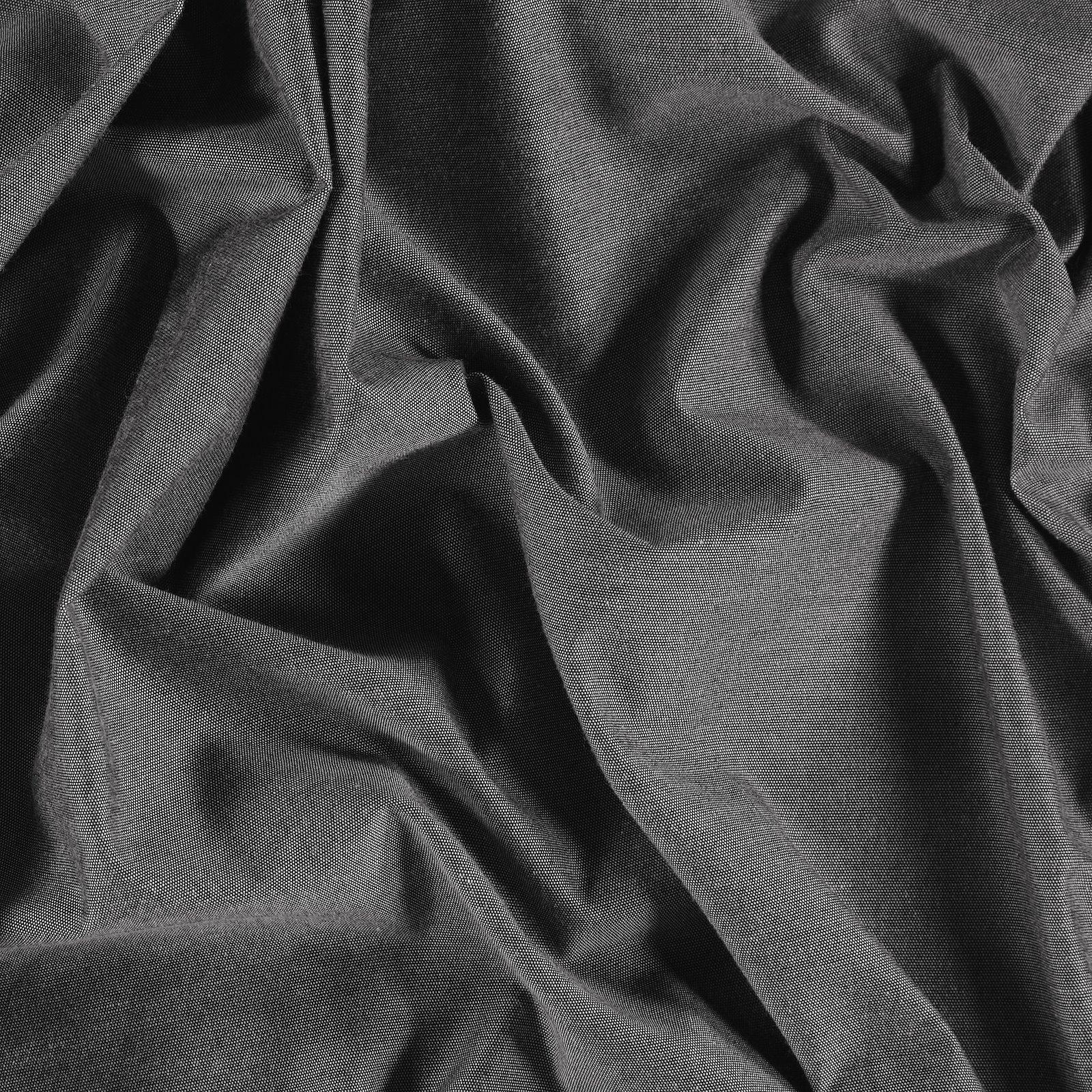Woven dark navy melange yarn dyed