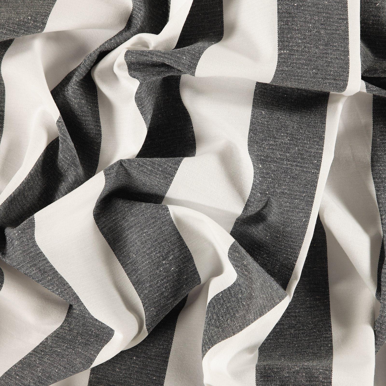 Yarn dyed dark navy/off white stripe
