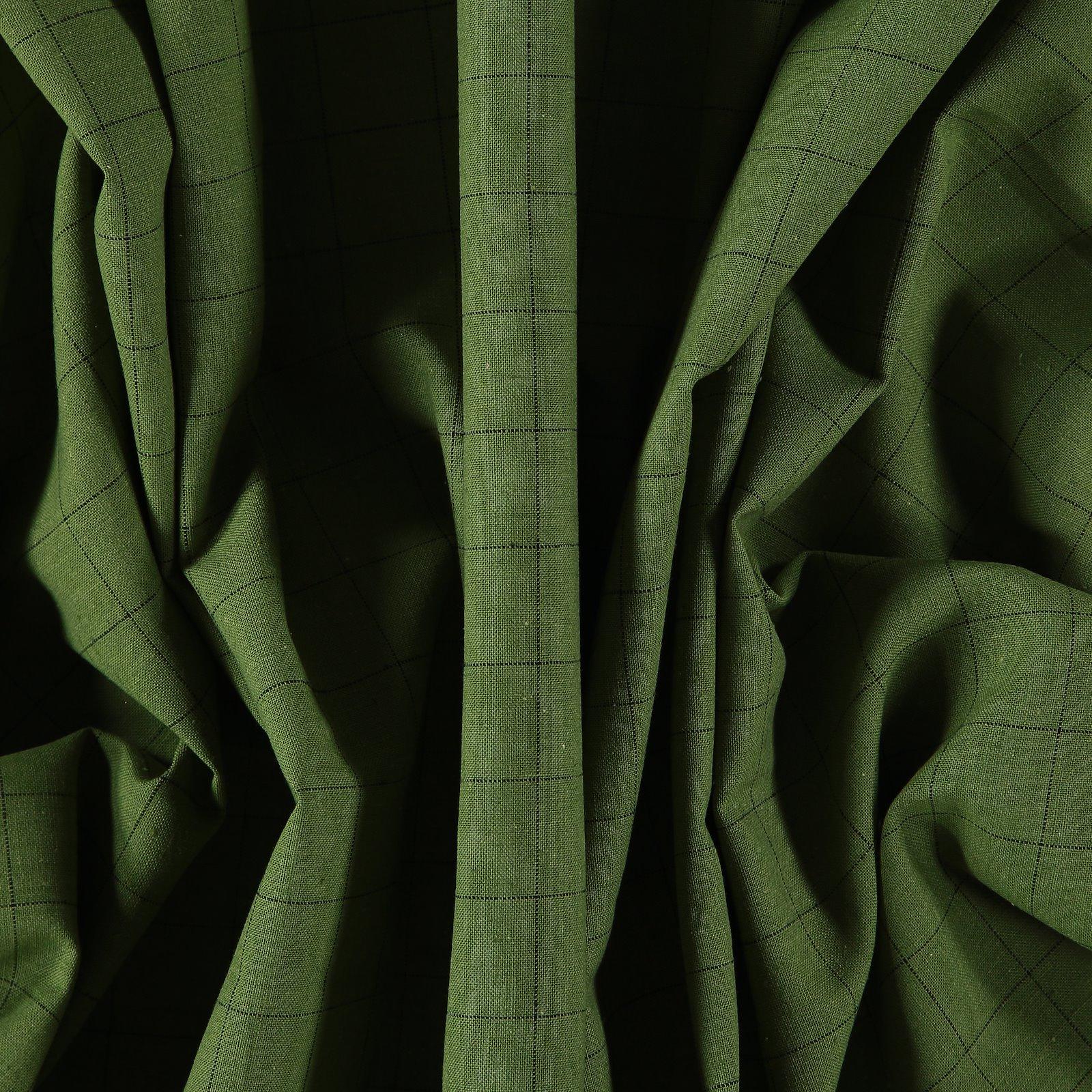 Yarn dyed check light army green/black