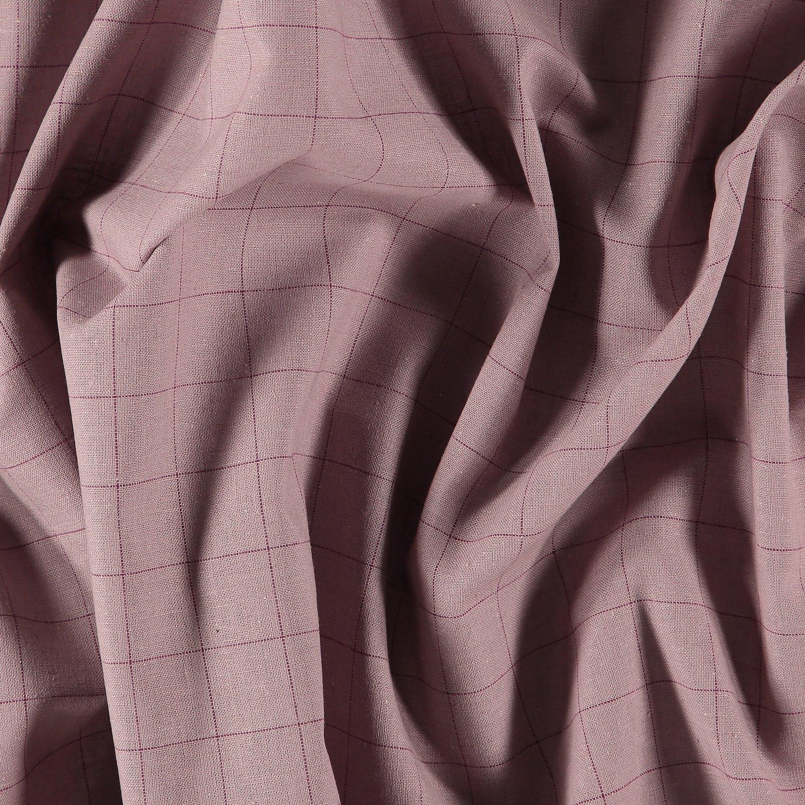Yarn dyed check light dusty heather/plum