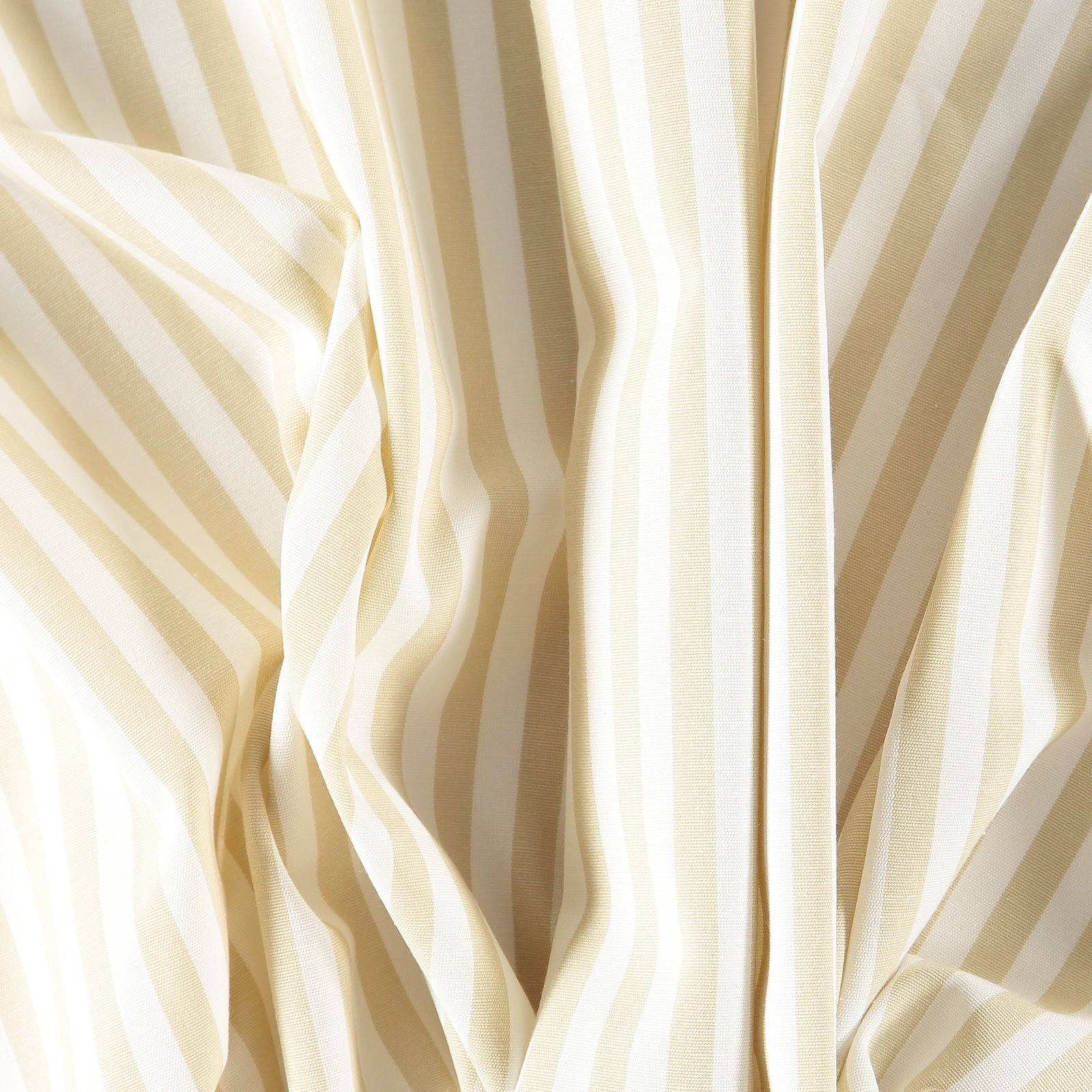 Woven nature/beige striped yarn dyed