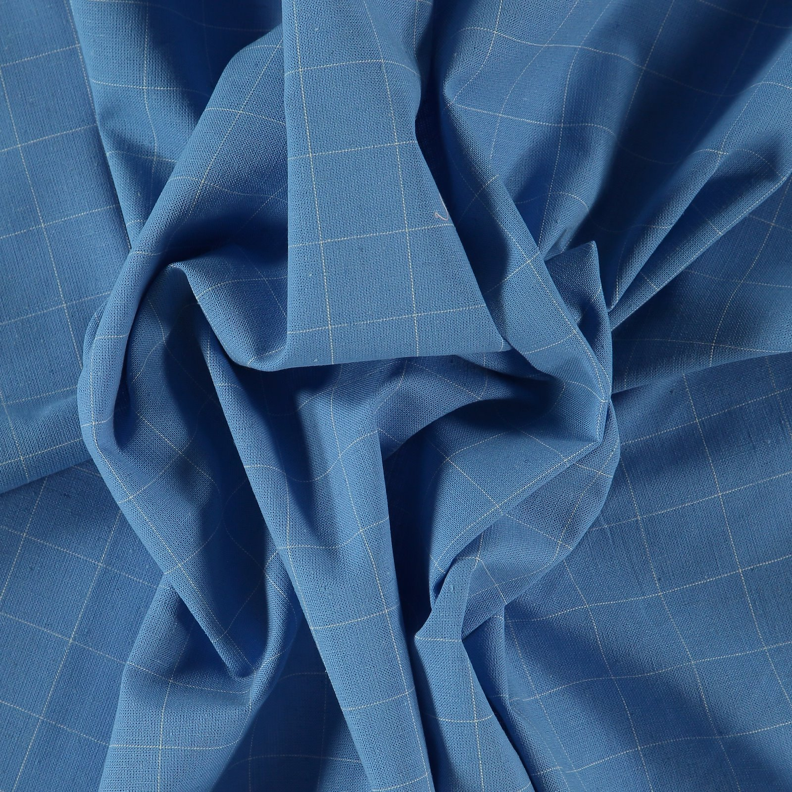 Yarn dyed check cobalt blue/white