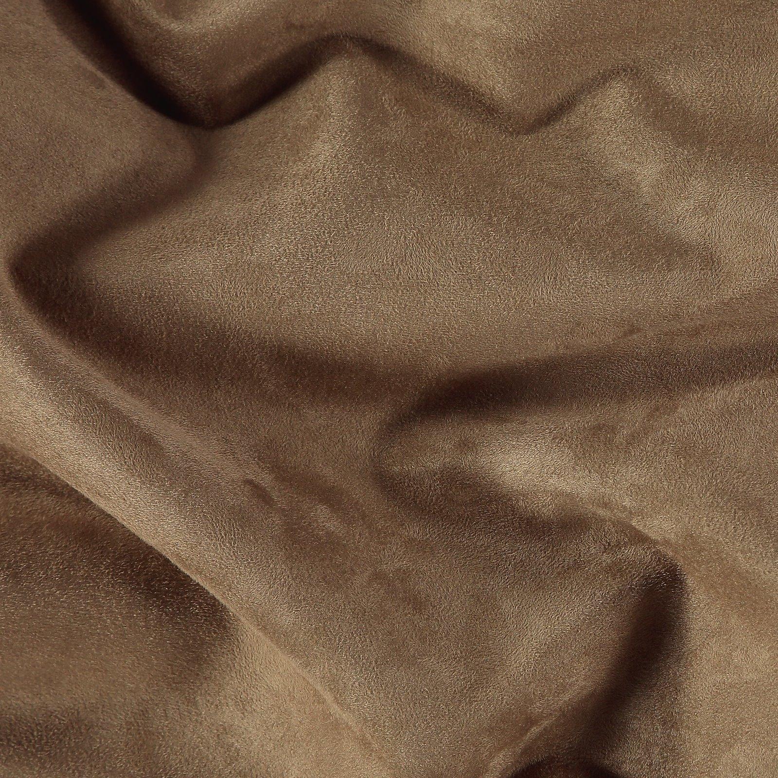 Upholstery fake suede hazelnut