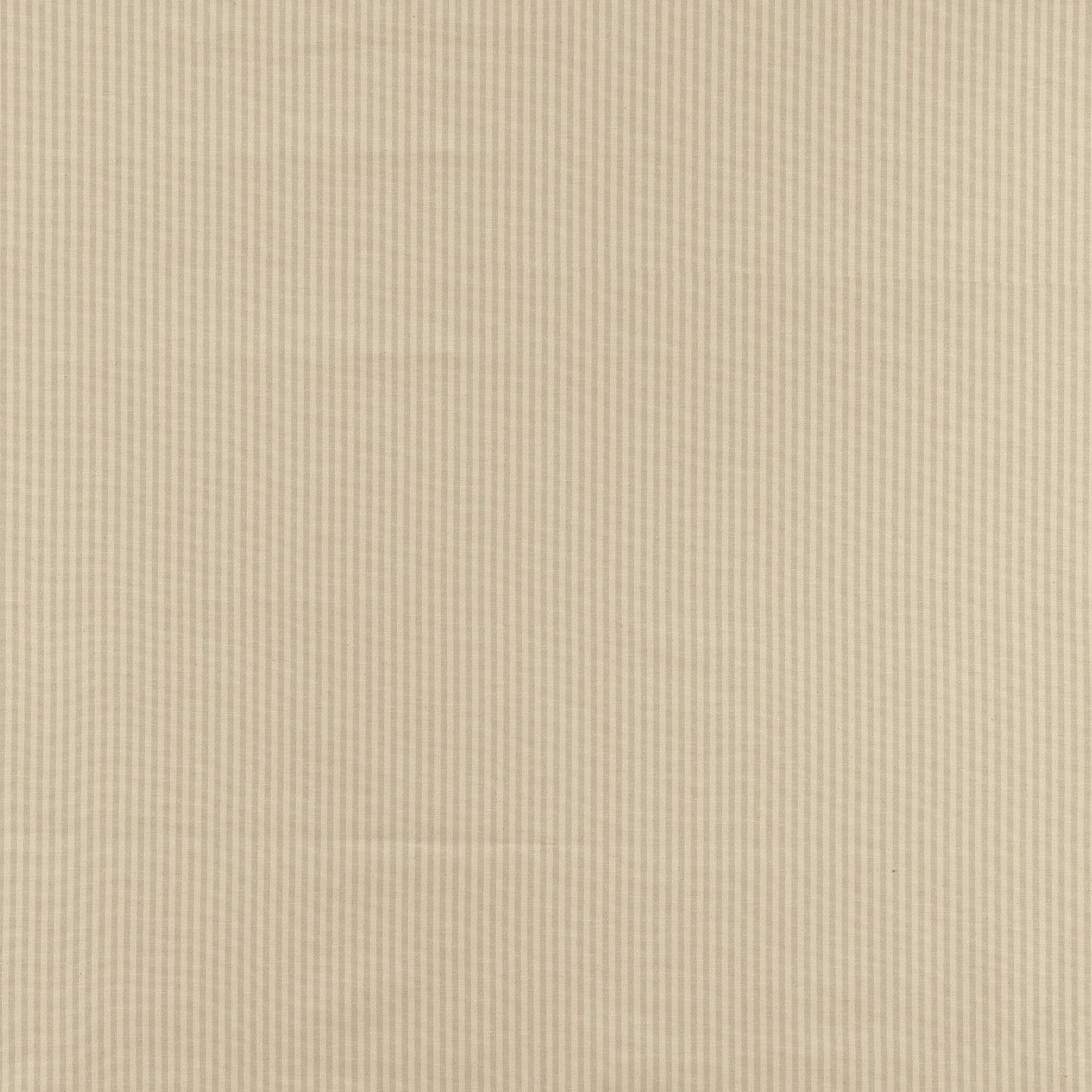 Yarn dyed off white/sand narrow stripe