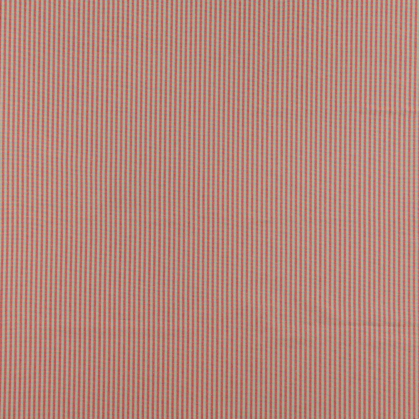 Yarn dyed red/sand narrow stripe