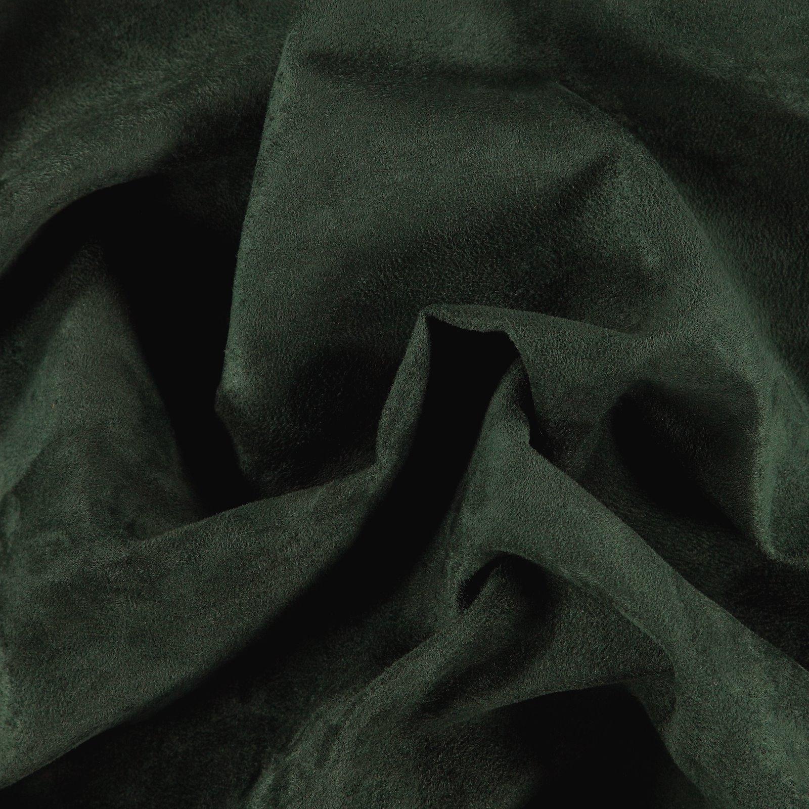 Upholstery fake suede dark bottle green