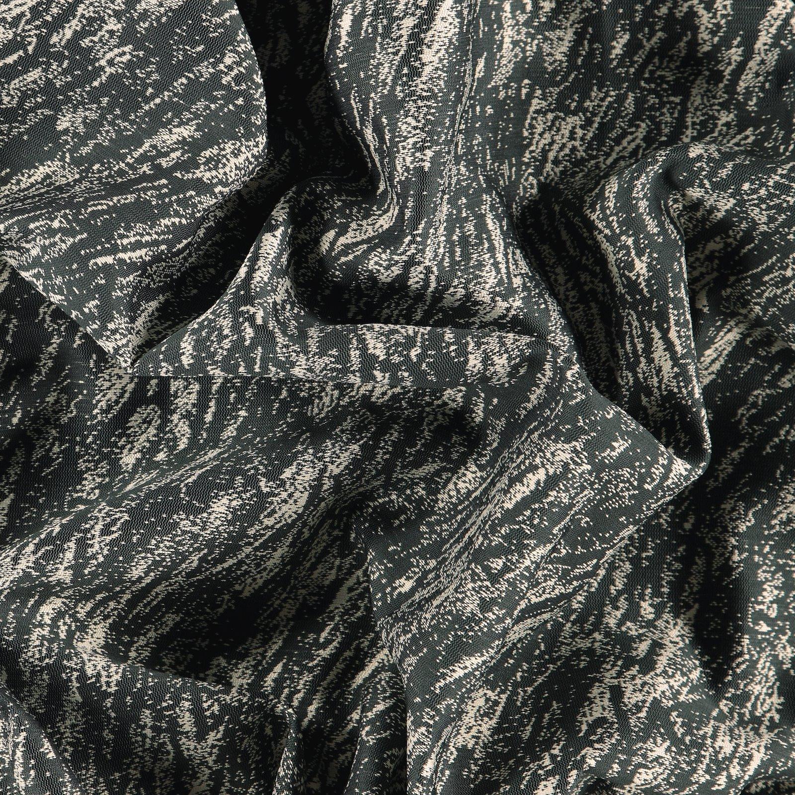 Jacquard dark grey w offwhite pattern