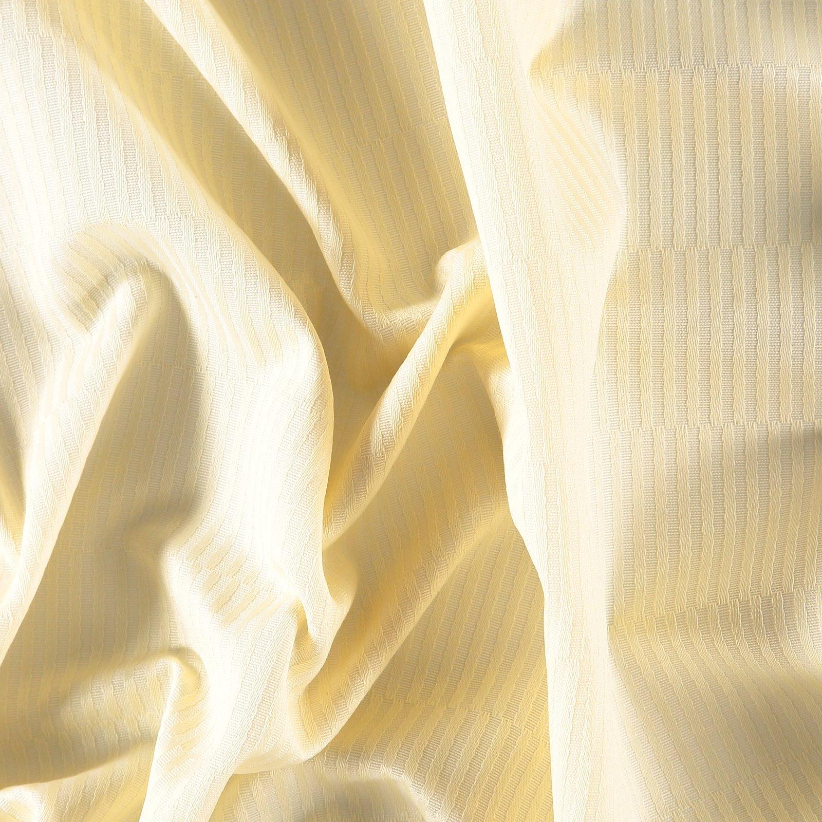 Yarn dyed light yellow w striped pattern