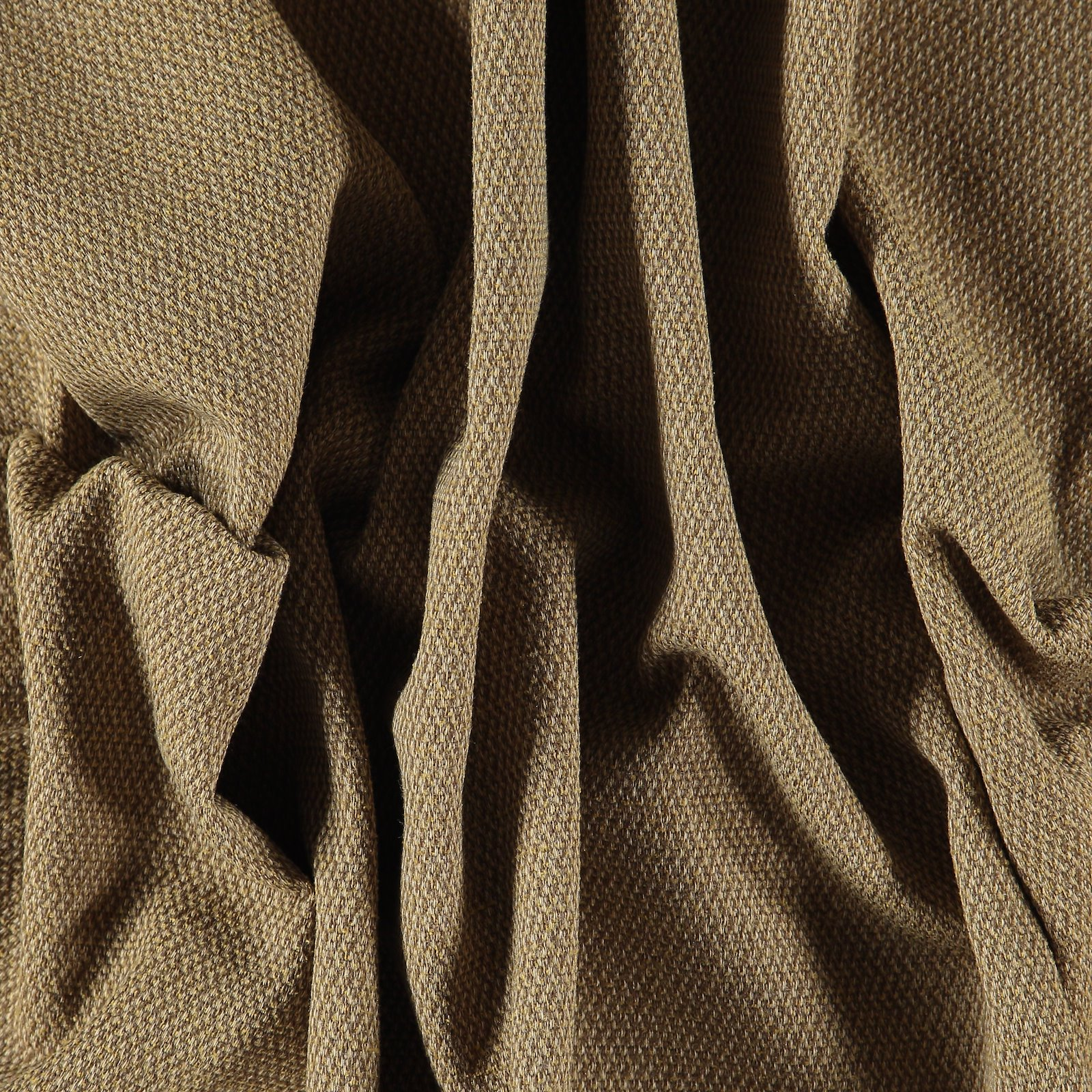 Upholstery chenille structure curry/sand