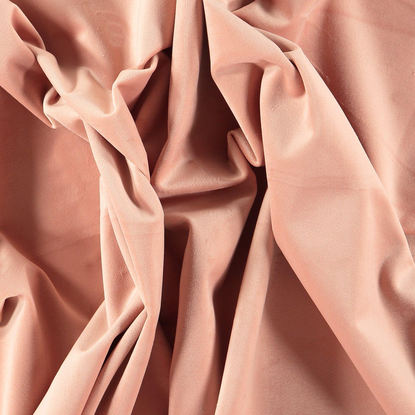 Upholstery shiny velvet warm powder