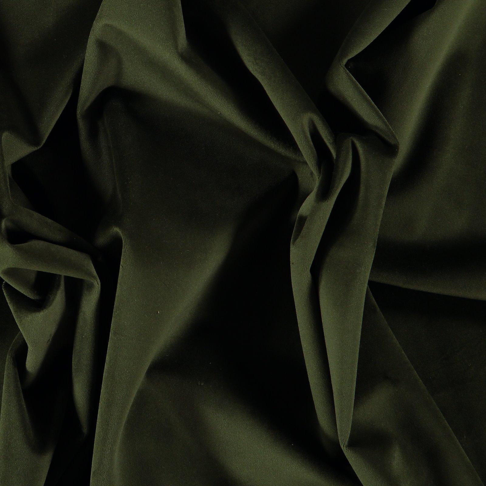 Upholstery shiny velvet army green