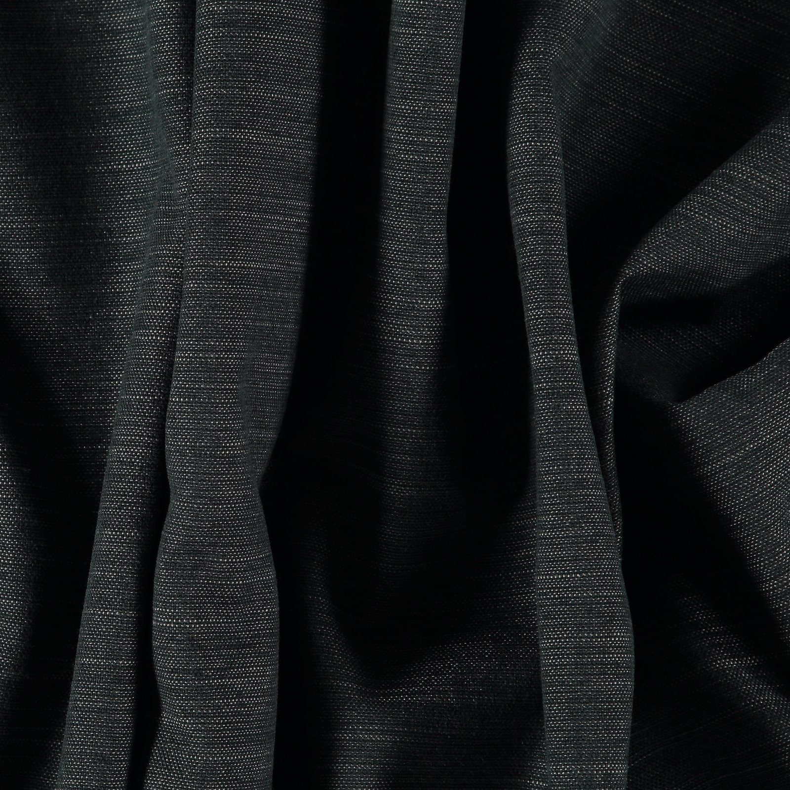 Recycled upholstery fabric black melange