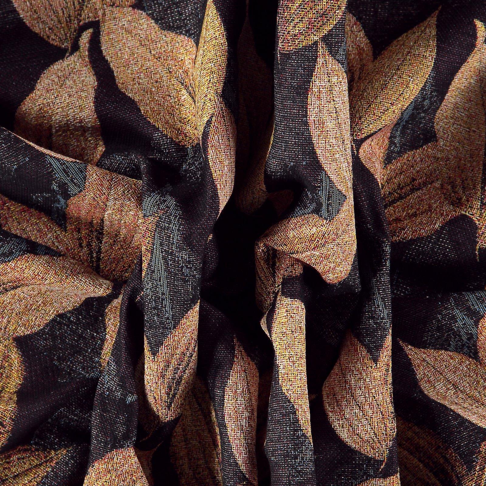 Gobelin black with golden leaves