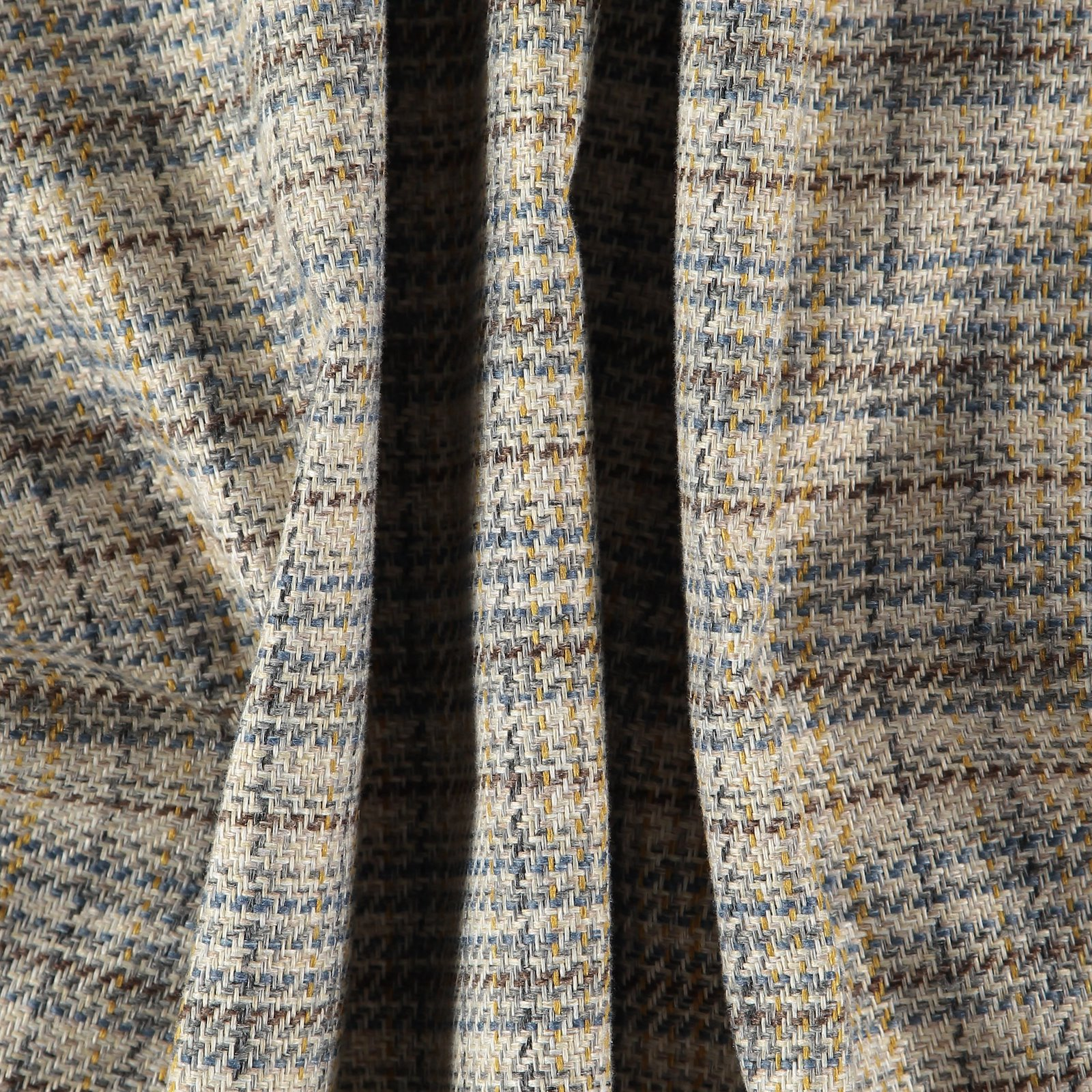 Upholstery fabric beige/blue/curry check