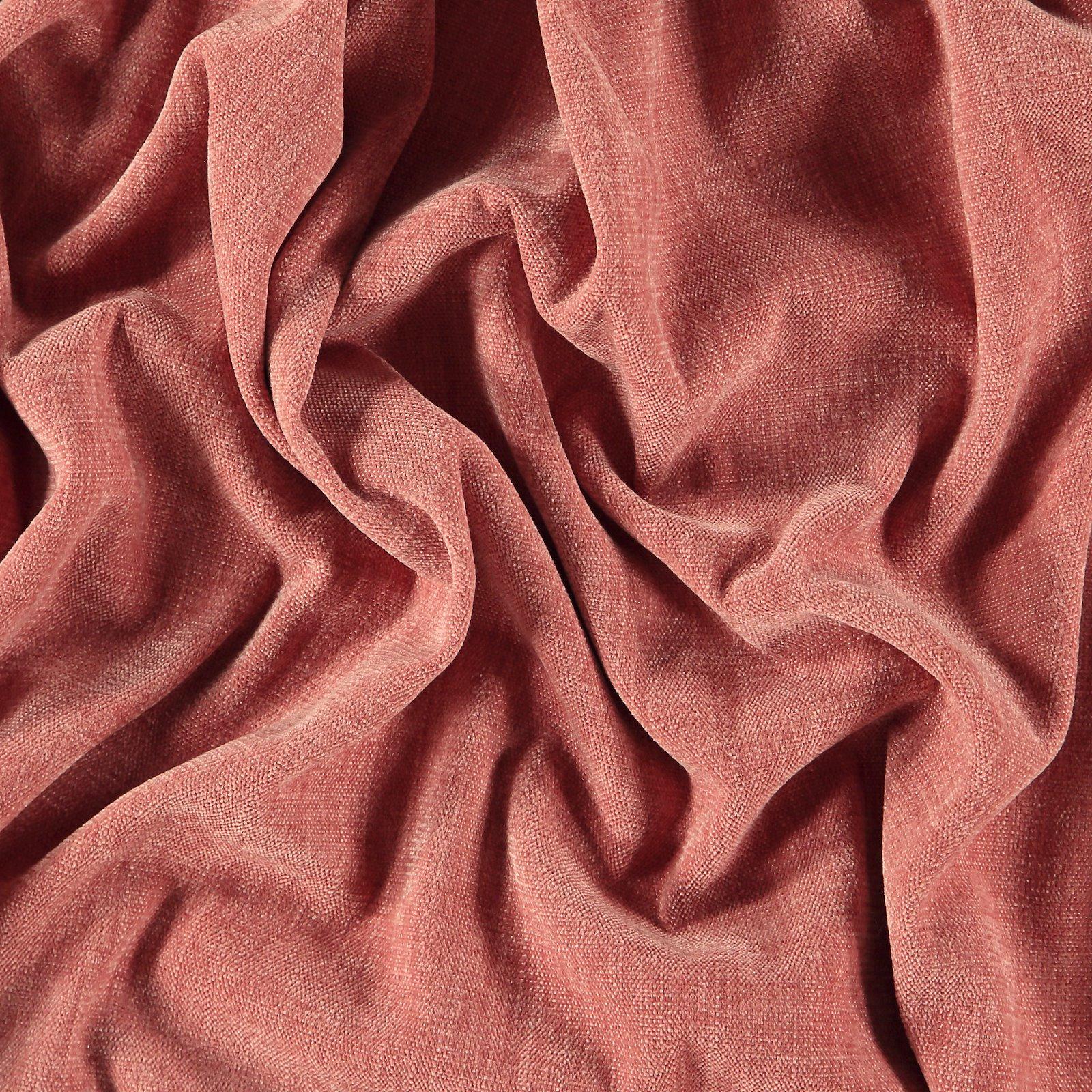 Upholstery chenille structure dark rose