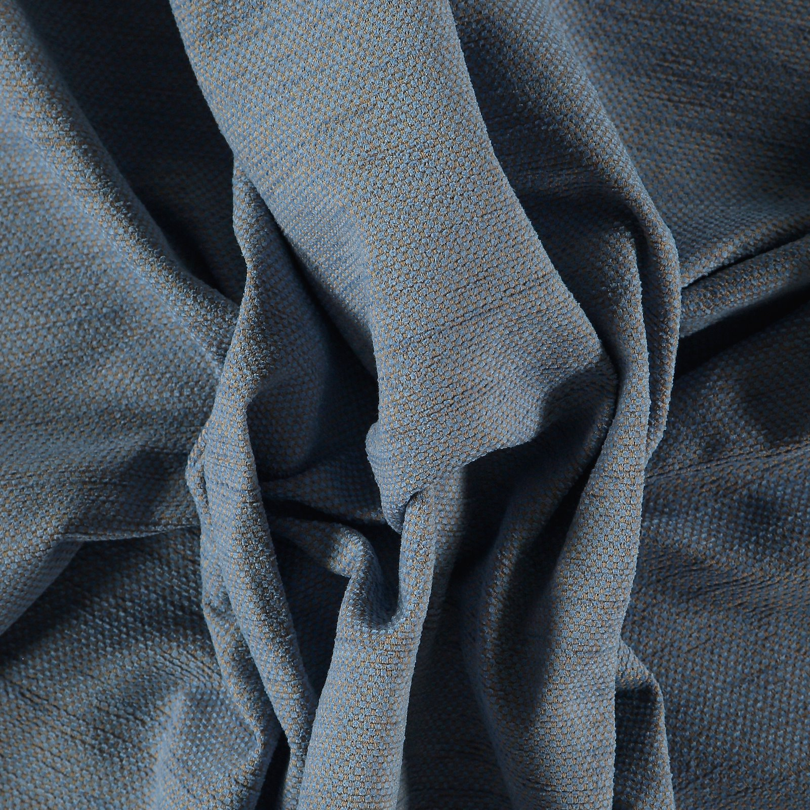 Upholstery chenille structure blue